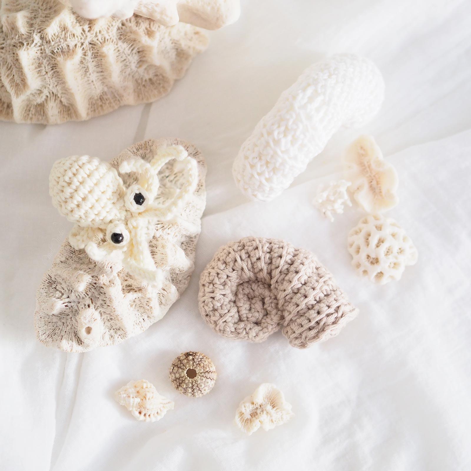 crochet-mini-poulpe-coquillages-nautile-kezakoflo-laboutiquedemelimelo