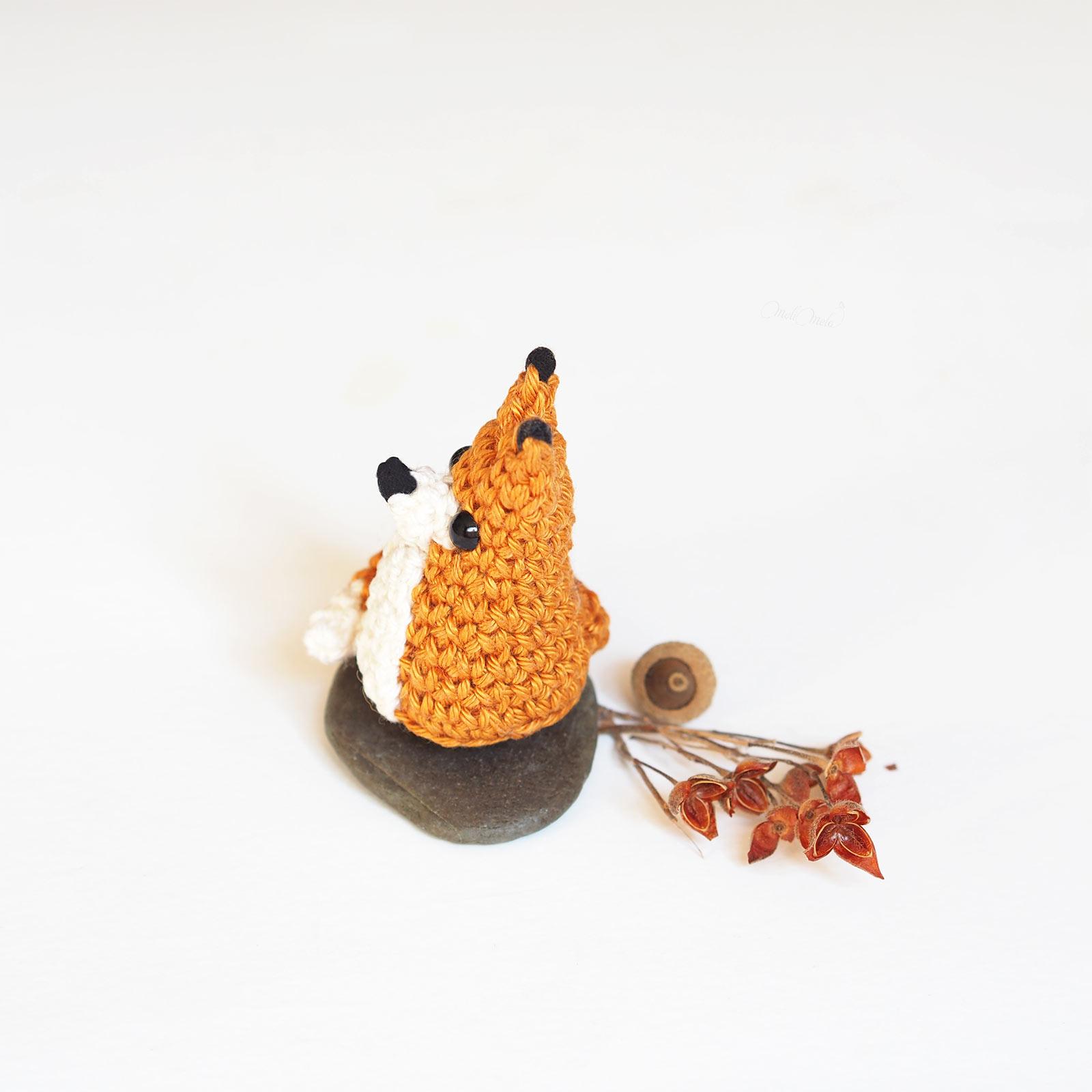 crochet mini renard roux tiny fox tuto DIY Catona Scheepjes profil laboutiquedemelimelo
