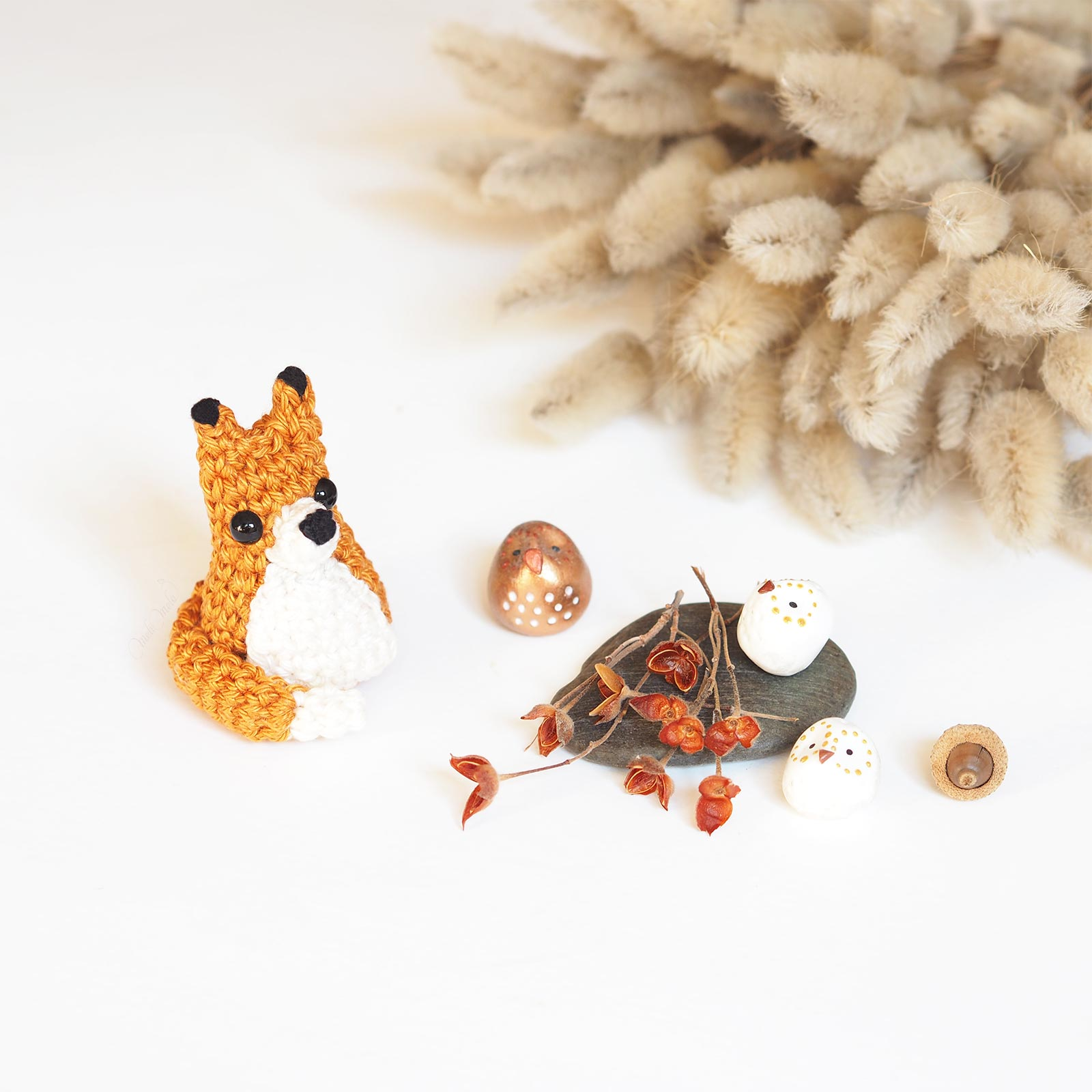 DIY tiny fox crochet mini renard tuto Catona Scheepjes laboutiquedemelimelo