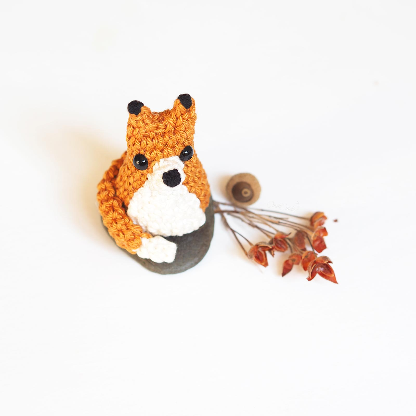 crochet mini renard tiny fox tuto DIY Catona Scheepjes face laboutiquedemelimelo