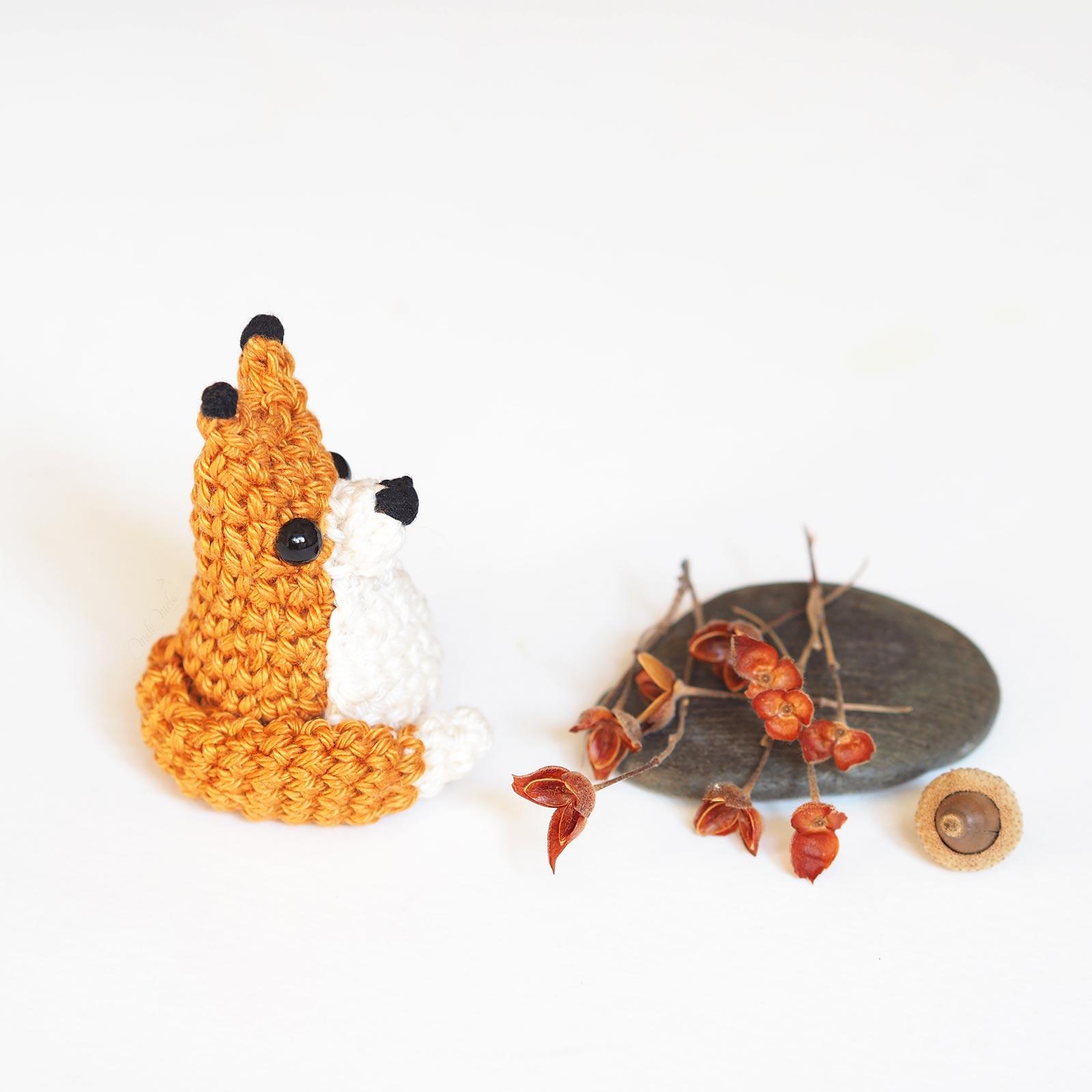 crochet mini renard tiny fox tuto DIY Catona Scheepjes profil laboutiquedemelimelo