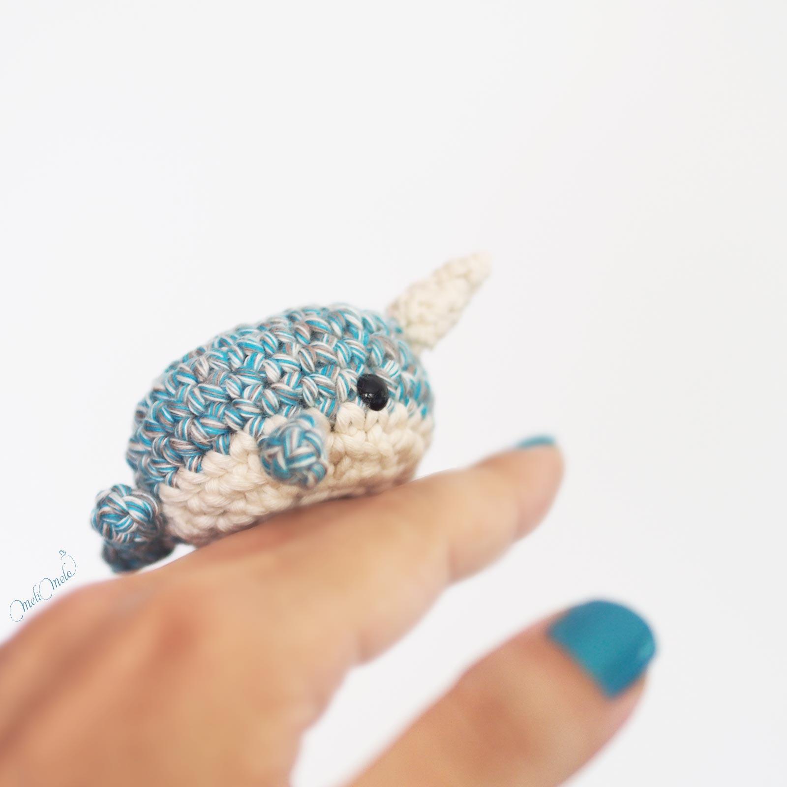 crochet narval amigurumi coton happyshinycotton woolandthegang laboutiquedemelimelo