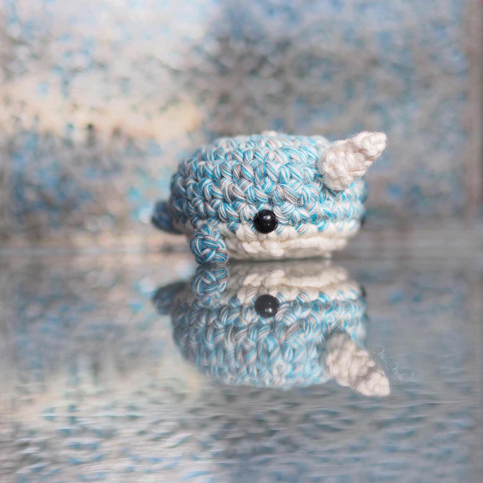 crochet narwhal amigurumi coton happyshinycotton woolandthegang laboutiquedemelimelo