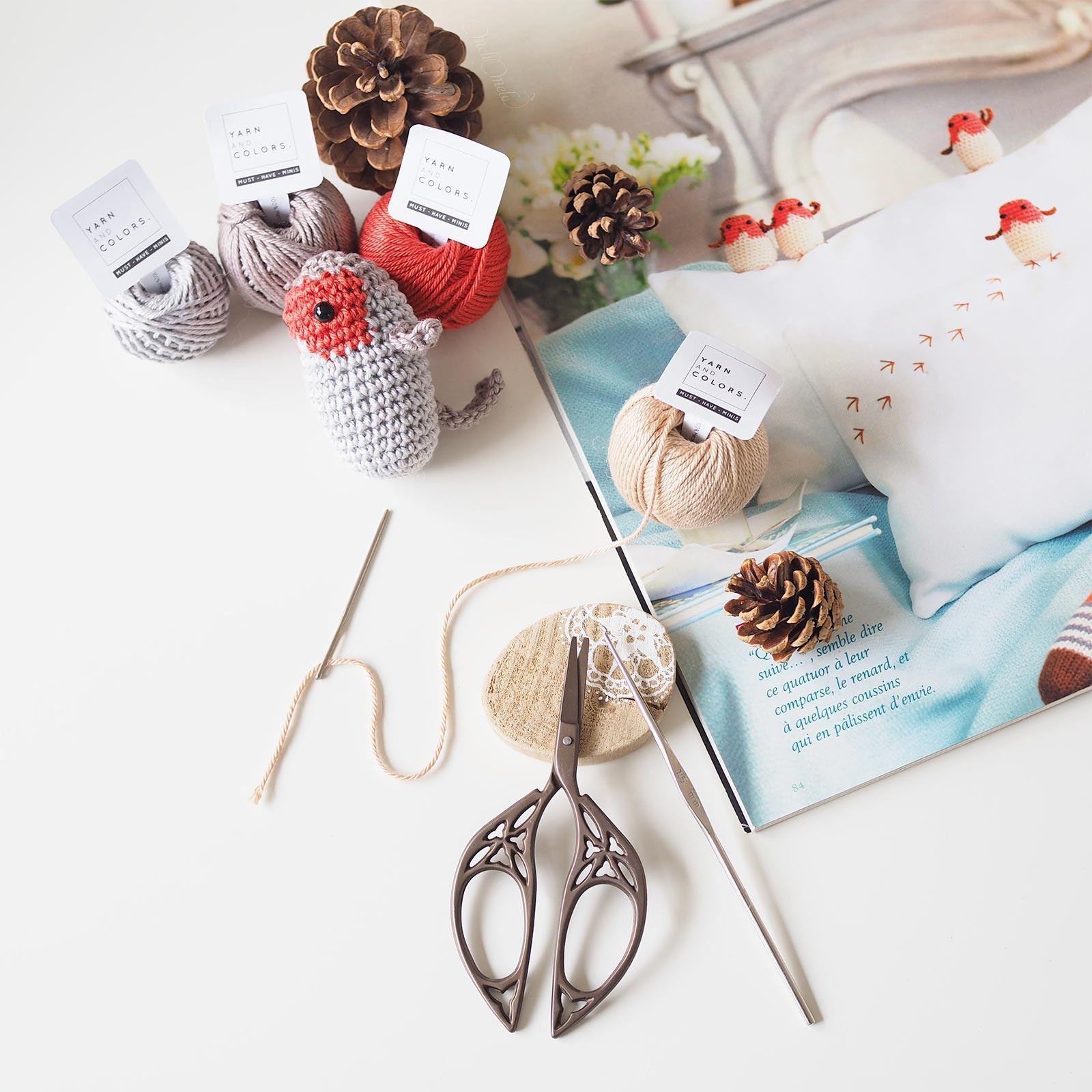 crochet oiseau rouge-gorge revue Marie Claires Idées Boutique MeliMelo