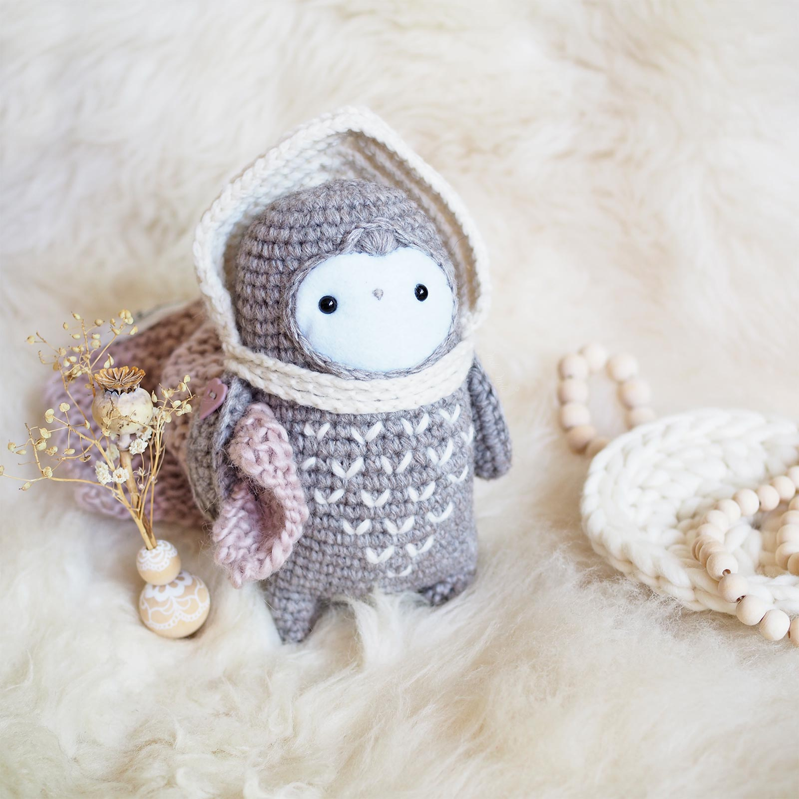 crochet owl chouette lutine laboutiquedemelimelo