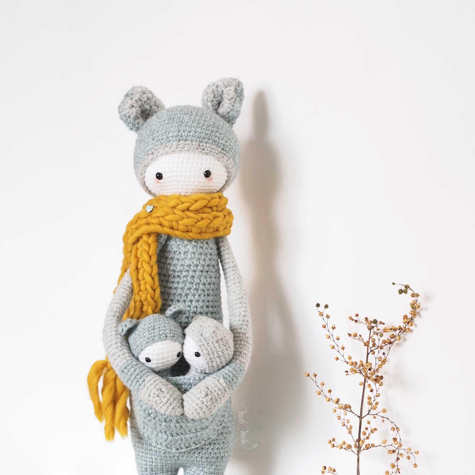 crochet kangourou Kira de face Lalylala alpaca ricodesign laboutiquedemelimelo