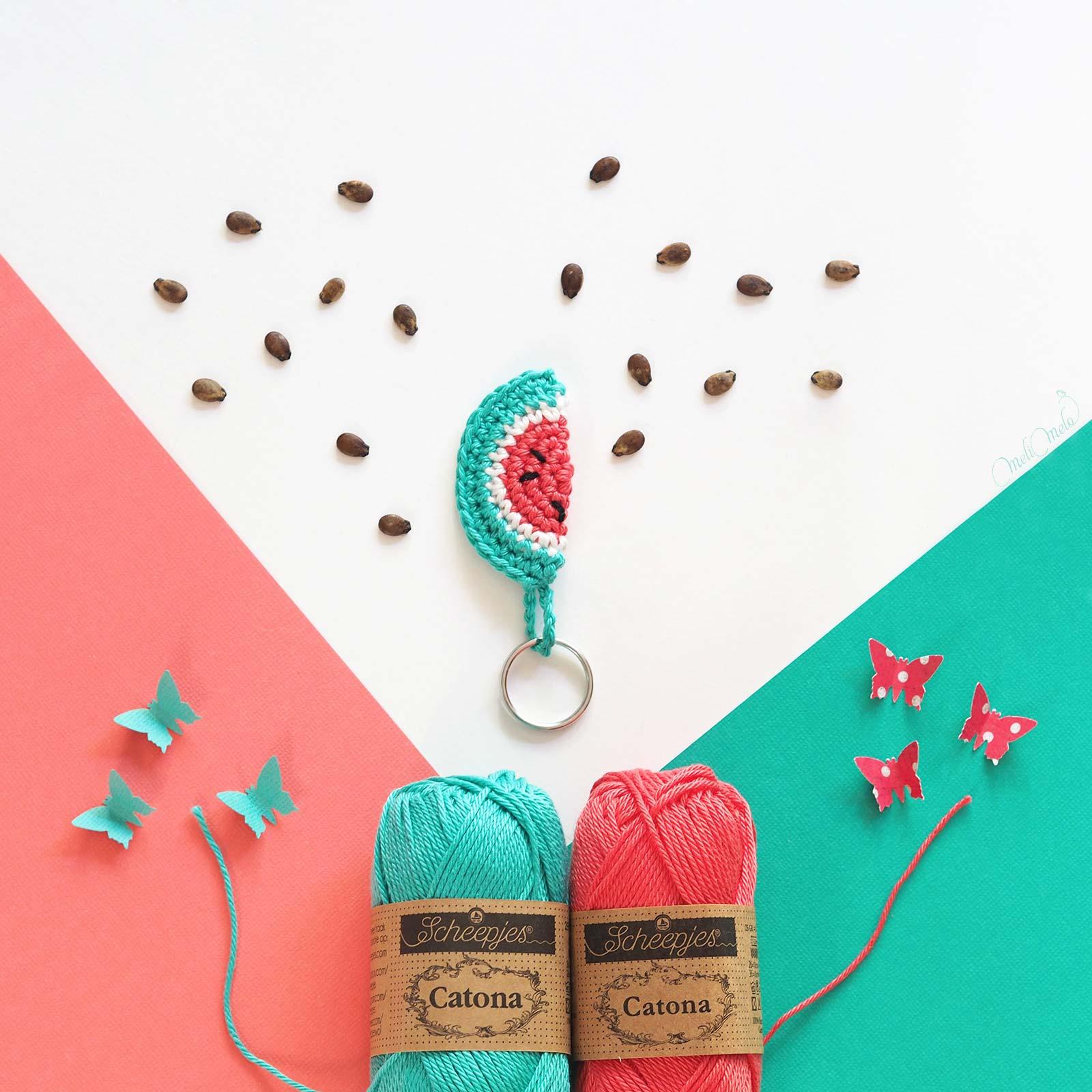 crochet inspiration pastèque watermelon summer Scheepjes Catona laboutiquedemelimelo