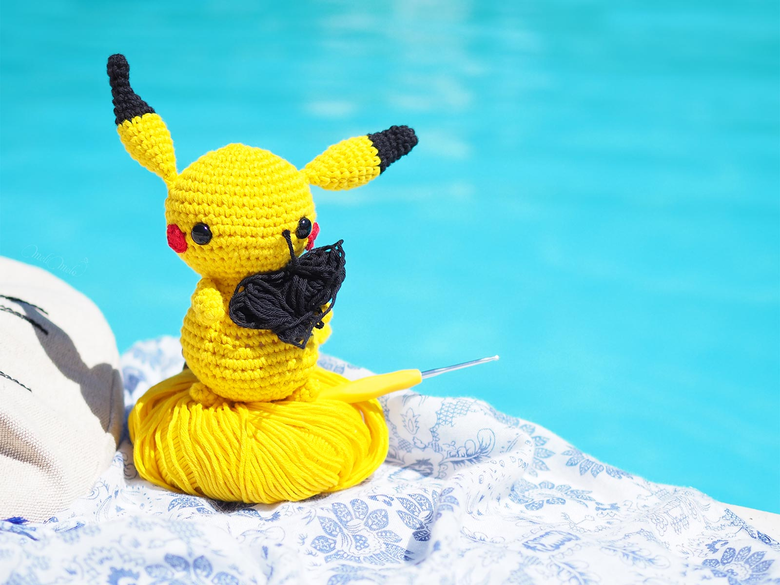 crochet-pikachu-encours-piscine-summer-laboutiquedemelimelo-cotton-pima-weareknitters