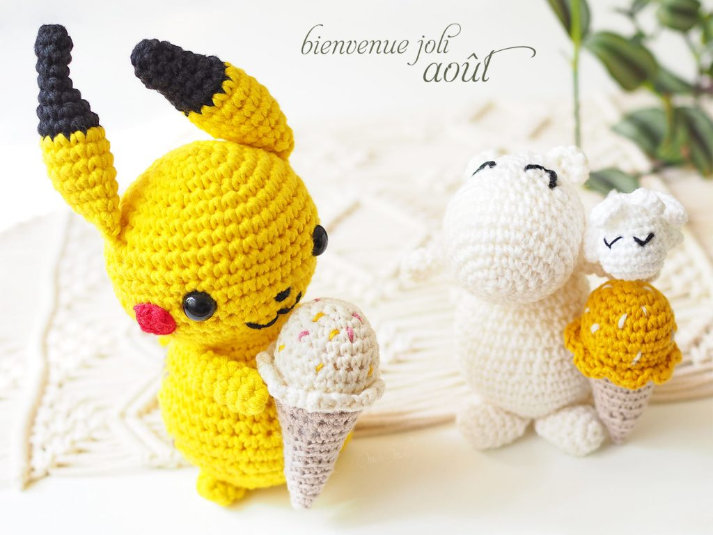 amigurumis crochet Pikachu Moomin glace ice cream laboutiquedemelimelo