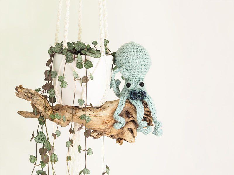 crochet poulpe jardinier bois pieuvre serial crocheteuses SC428 ceropegia woodii laboutiquedemelimelo