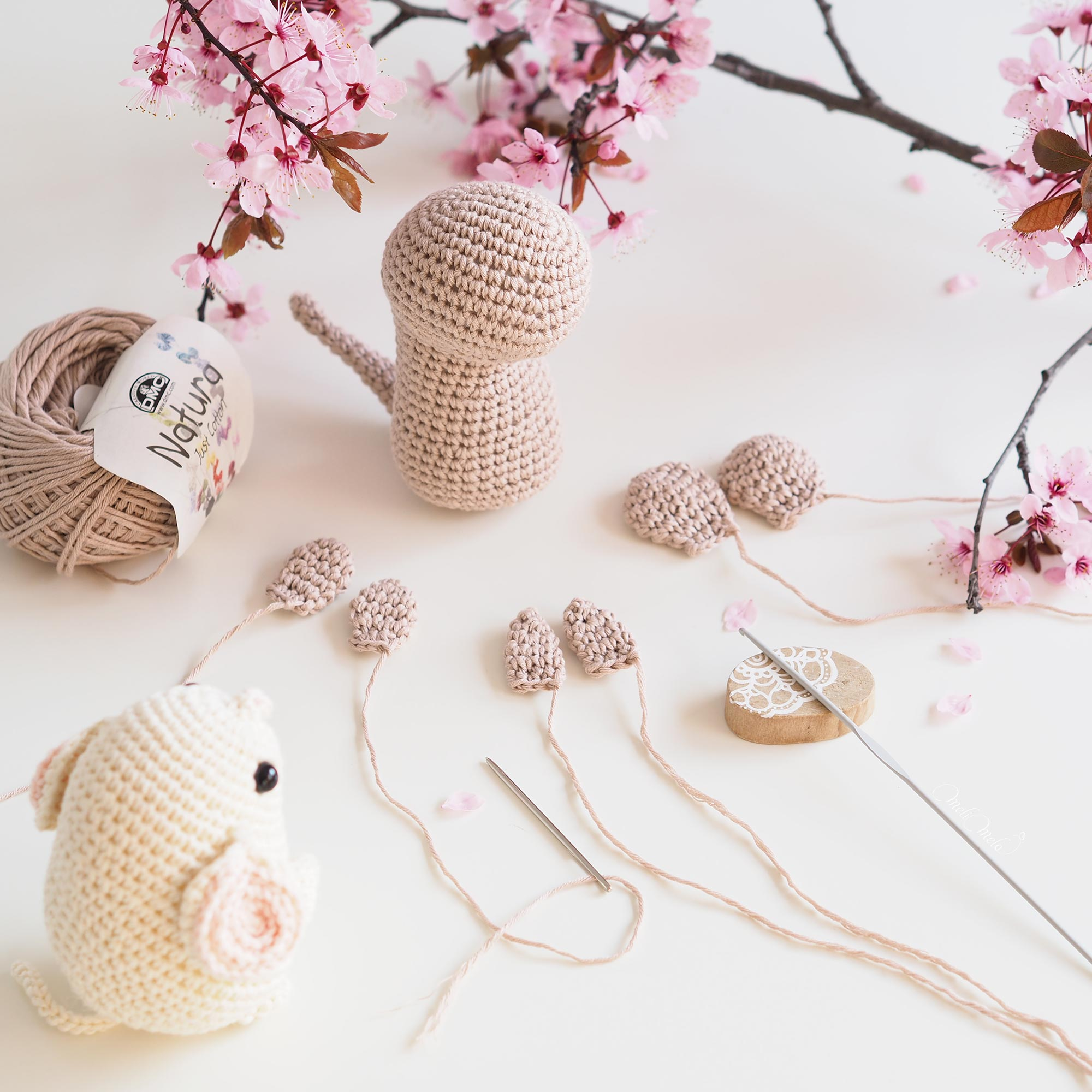 crochet rat mouse encours tuto pasapasdechat Boutique MeliMelo