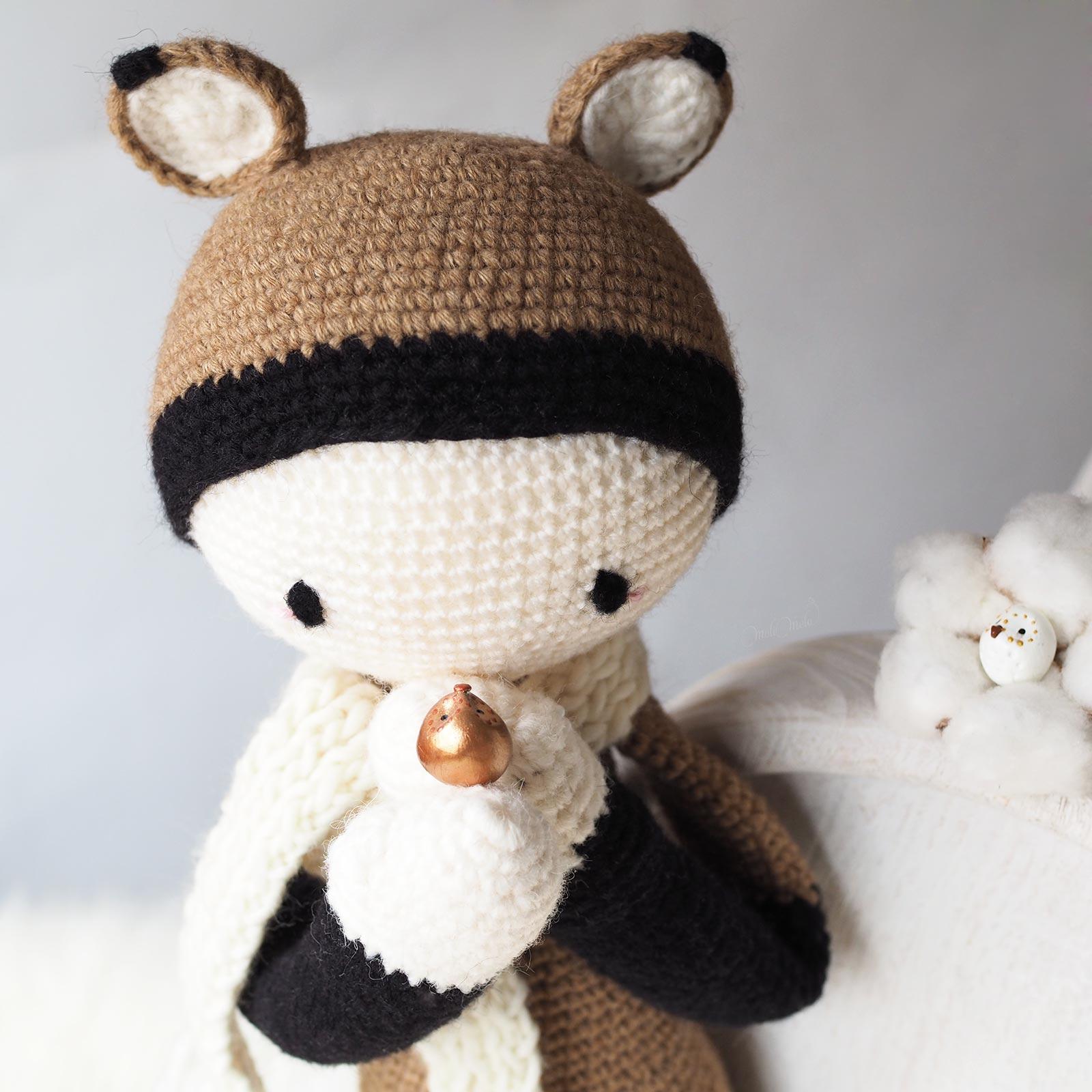 Renard Fibi au crochet amies chouettes 100% laine laboutiquedemelimelo