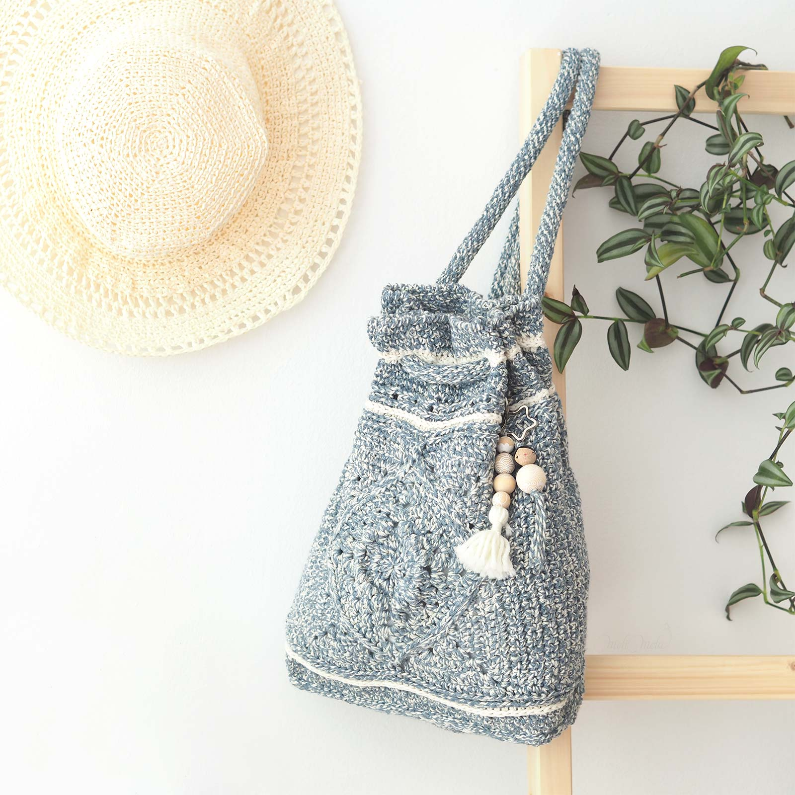 sac à dos Wildrose backpack La Boutique de MeliMelo yarn Billie Jean Wool and the Gang