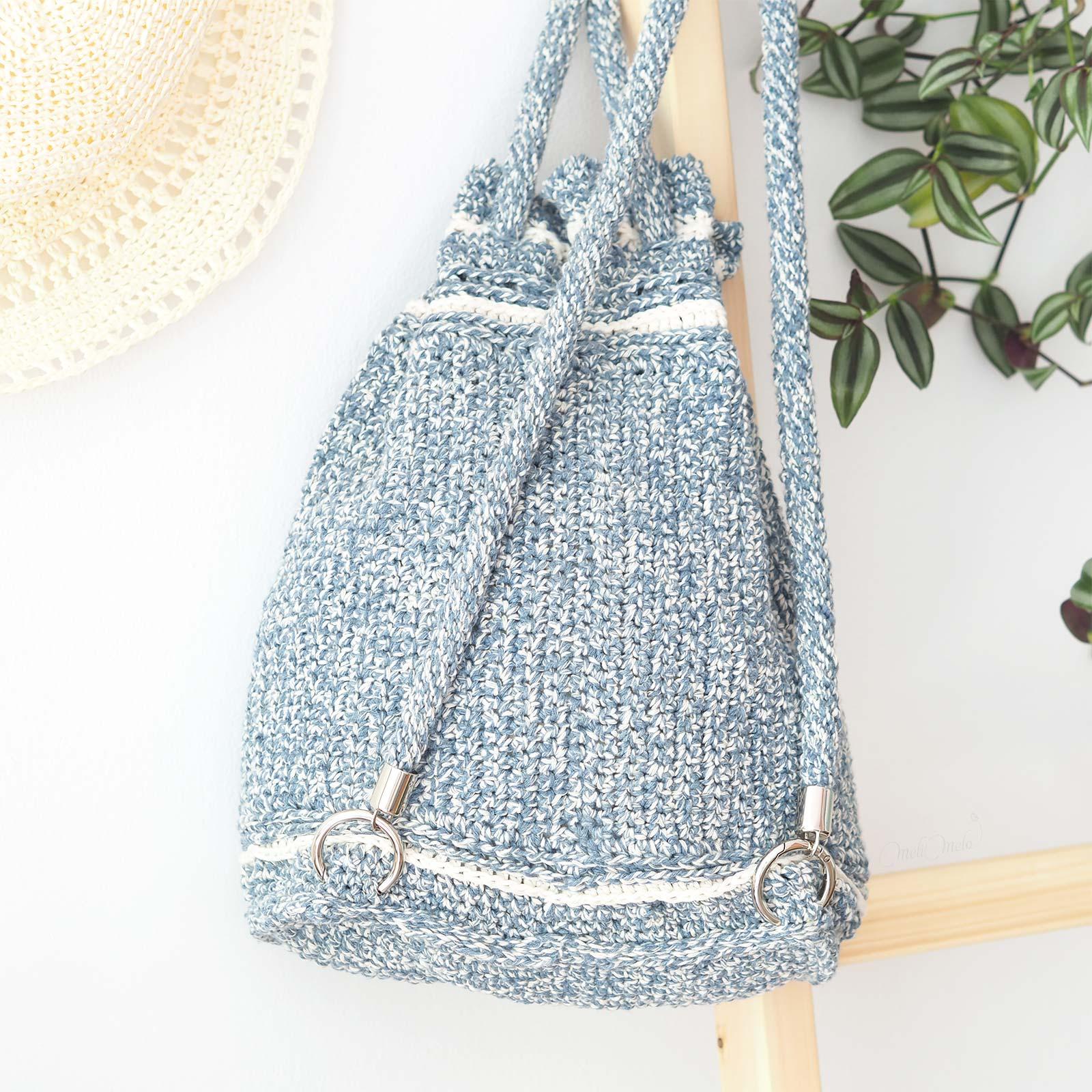 arrière back sac à dos crochet wildrose backpack All About Ami boutique melimelo