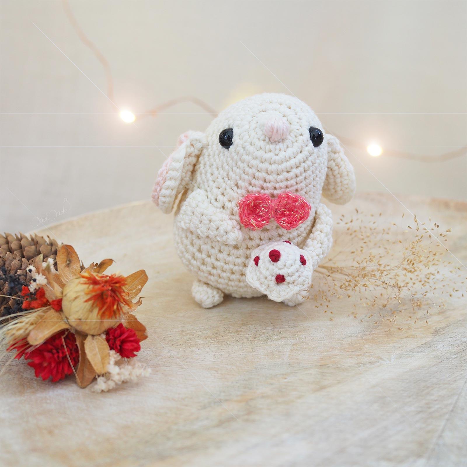 crochet souris gâteau amigurumi mouse amiguruku boutique MeliMelo