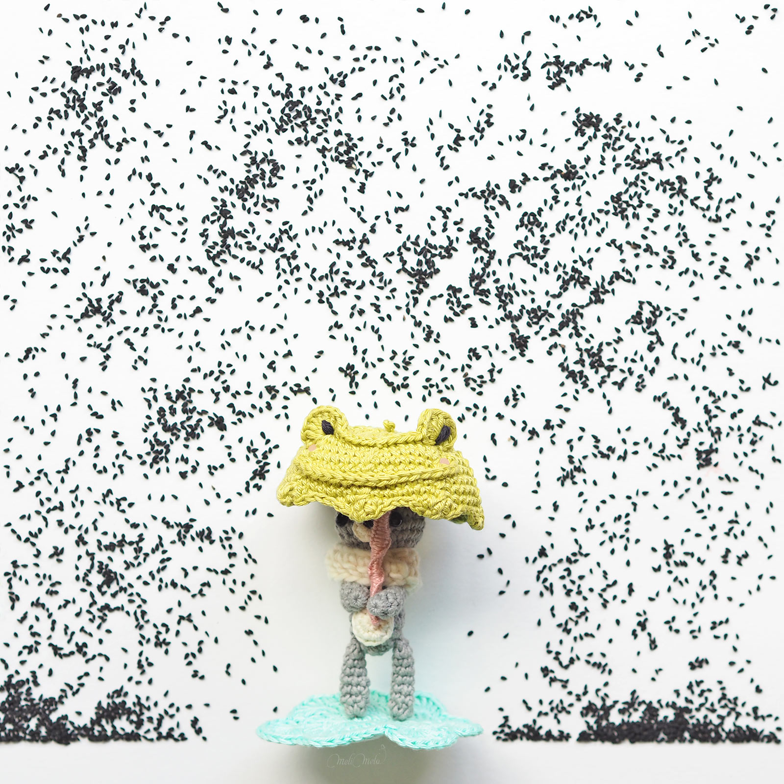 crochet tiny teddy parapluie fête grenouille créations mignonneries serial crocheteuses 421 Catona Scheepjes laboutiquedemelimelo