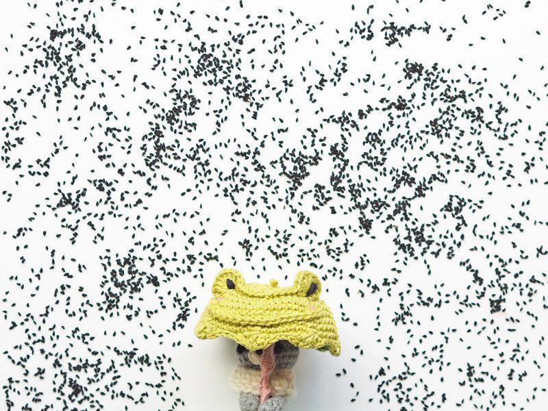 crochet tiny teddy parapluie grenouille créations mignonneries Catona Scheepjes laboutiquedemelimelo
