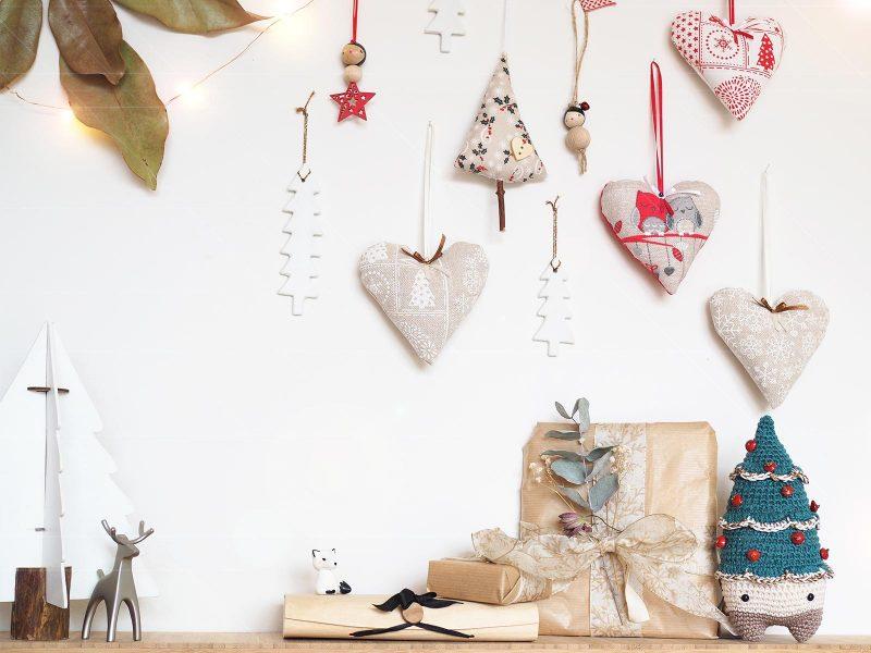 déco fêtes Noël coeurs sapins sérial crocheteuses SC461 laboutiquedemelimelo