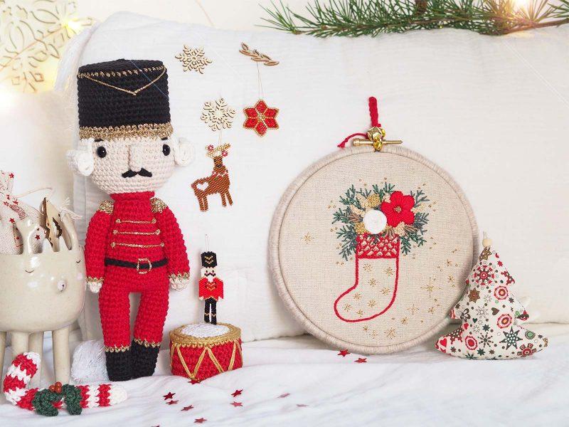 decoration noël traditionnel perles miyuki crochet couture casse-noisette laboutiquedemelimelo