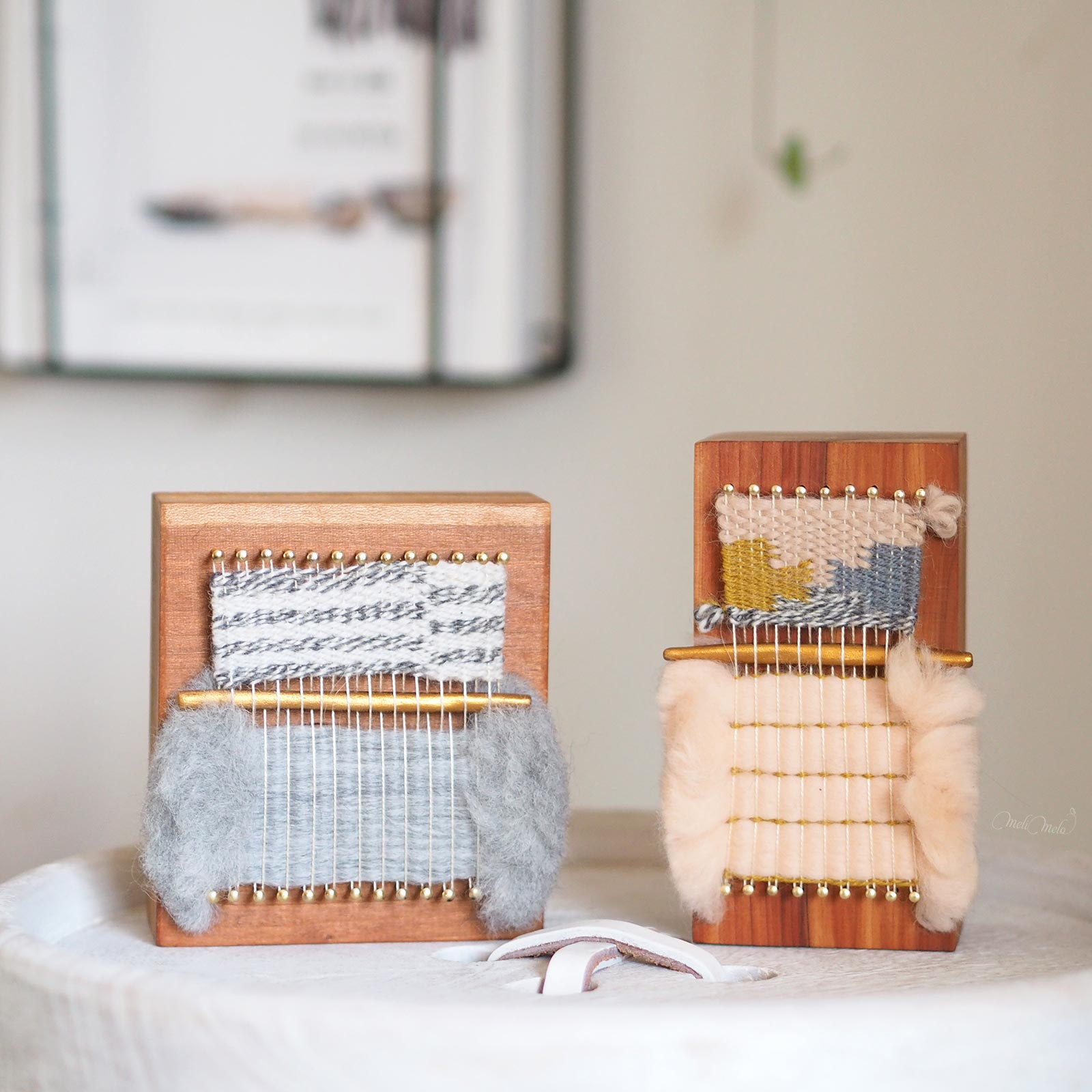 weaving mini loom blocks wood fiberart twentytwowest give away koel magazine