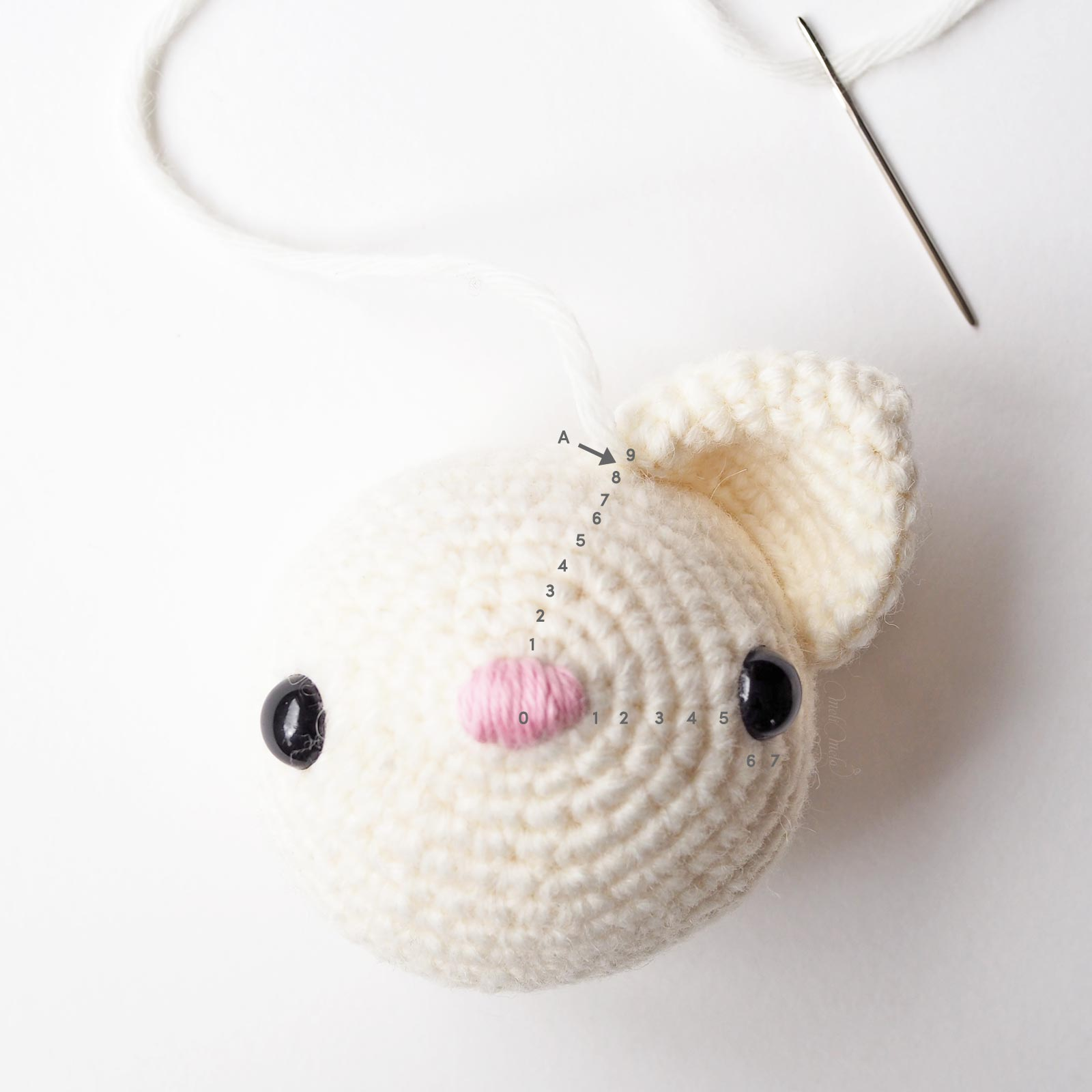 diy crochet maman chat position oreille droite diymelimelo laboutiquedemelimelo