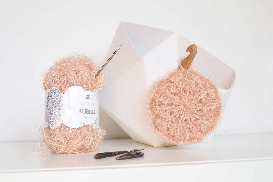 diy crochet tawashi éponge fleur Creative Bubble Rico Design laboutiquedemelimelo