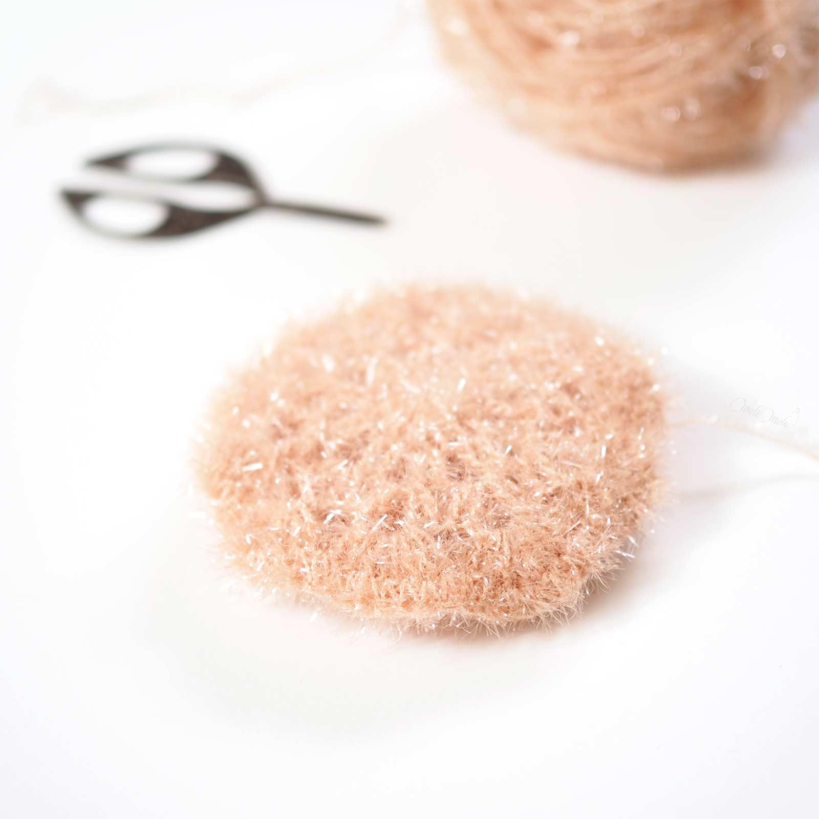diy tawashi rond crochet éponge fleur Creative Bubble Rico Design laboutiquedemelimelo