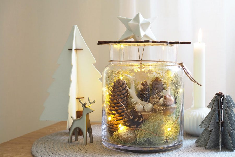 féérie magie diy noëlarium renard chouette lumière fêtes Noël laboutiquedemelimelo