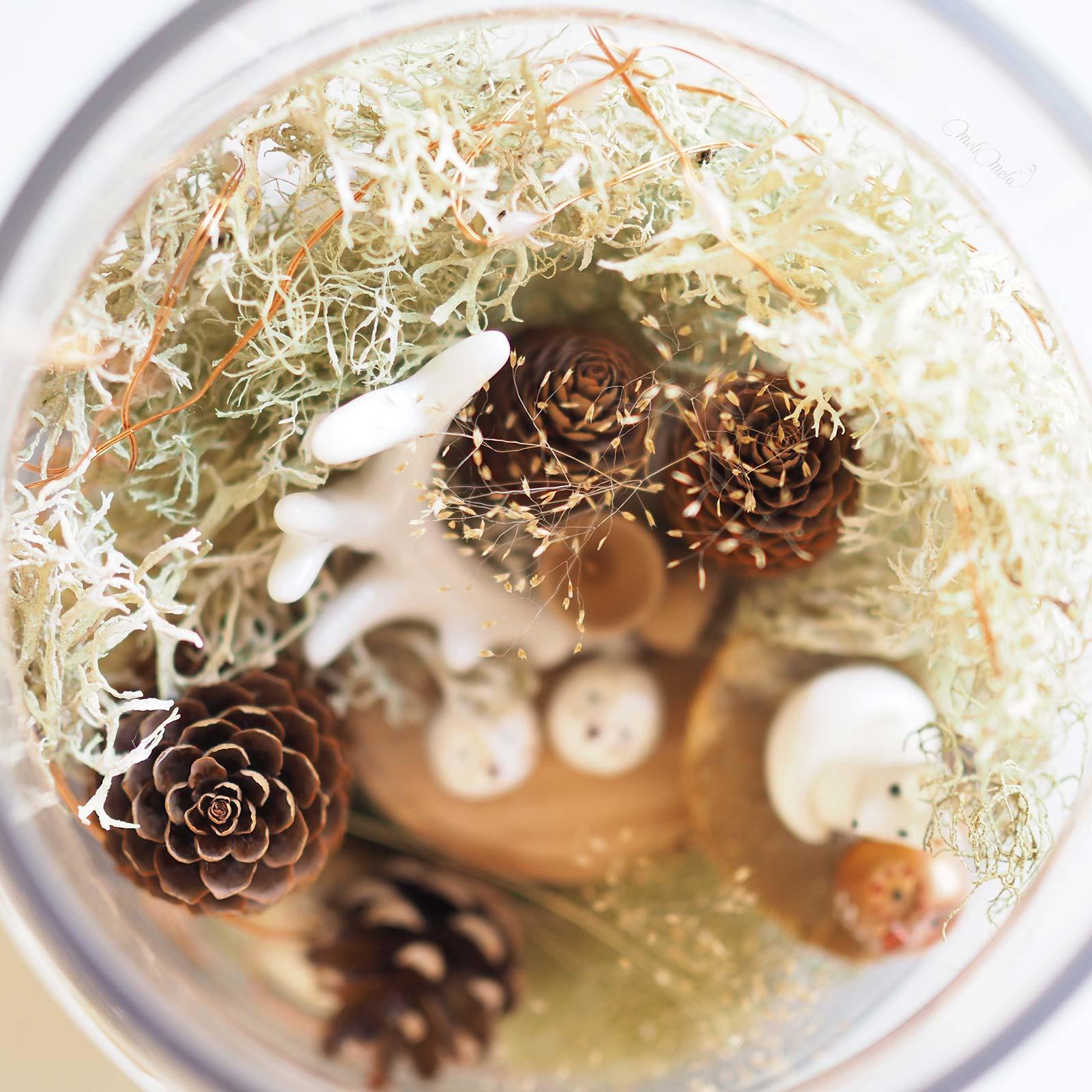 diy noëlarium renard chouette herbes mousse  déco fêtes noël laboutiquedemelimelo