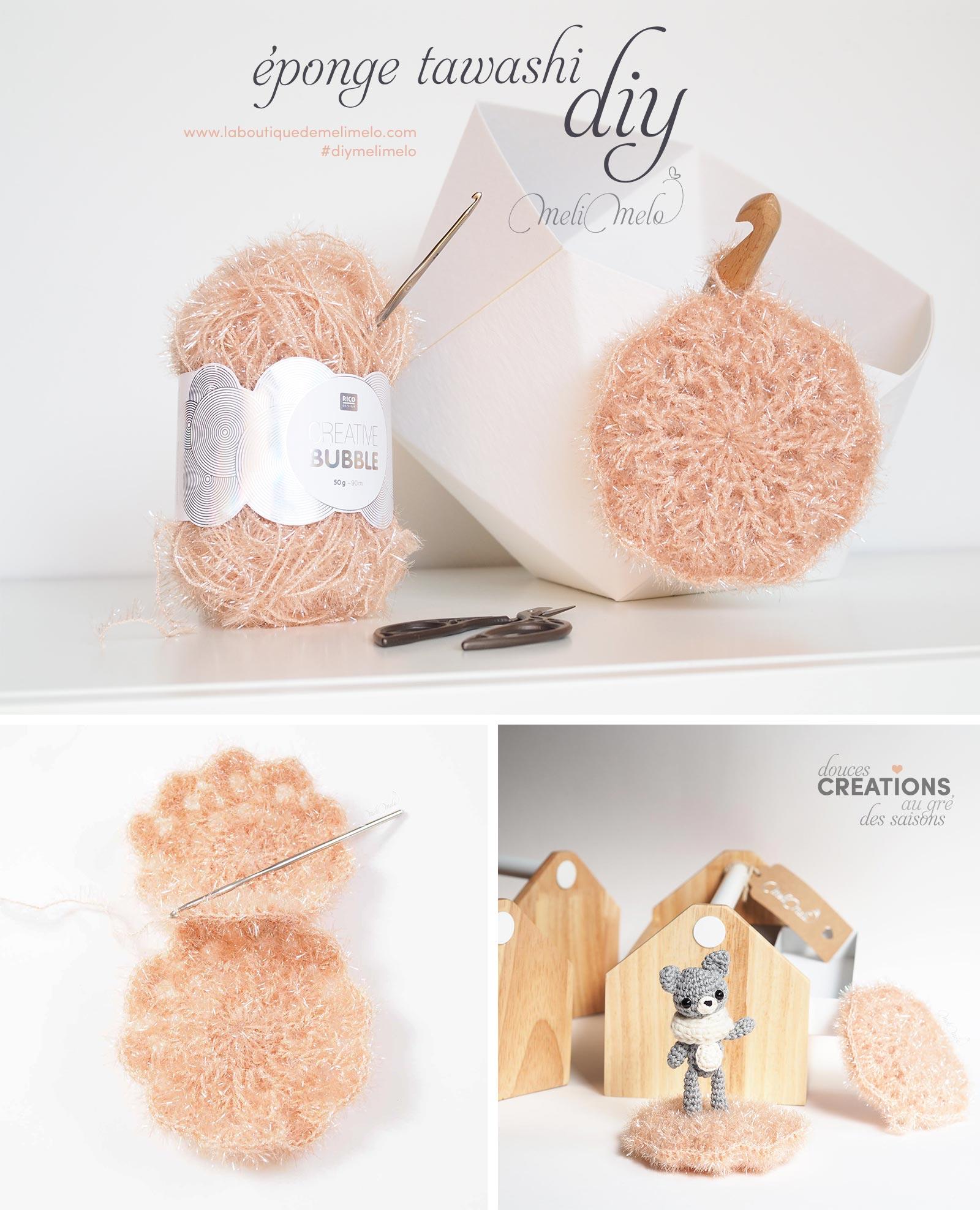 diy tuto crochet éponge tawashi créative bubble ricodesign diymelimelo laboutiquedemelimelo