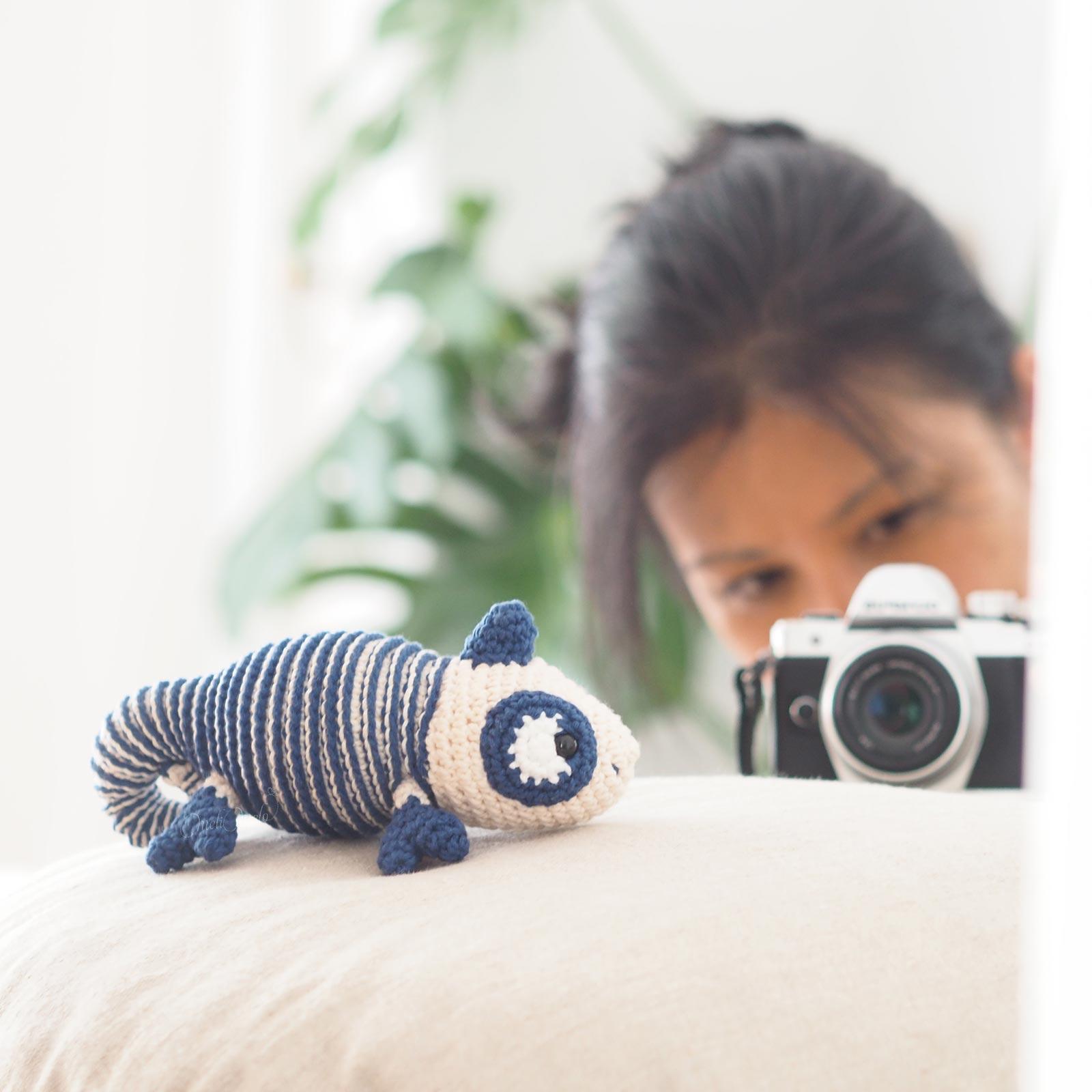 crochet chameleon juliakapattern Ricorumi coton doudou amigurumi cameleon mariniere laboutiquedemelimelo
