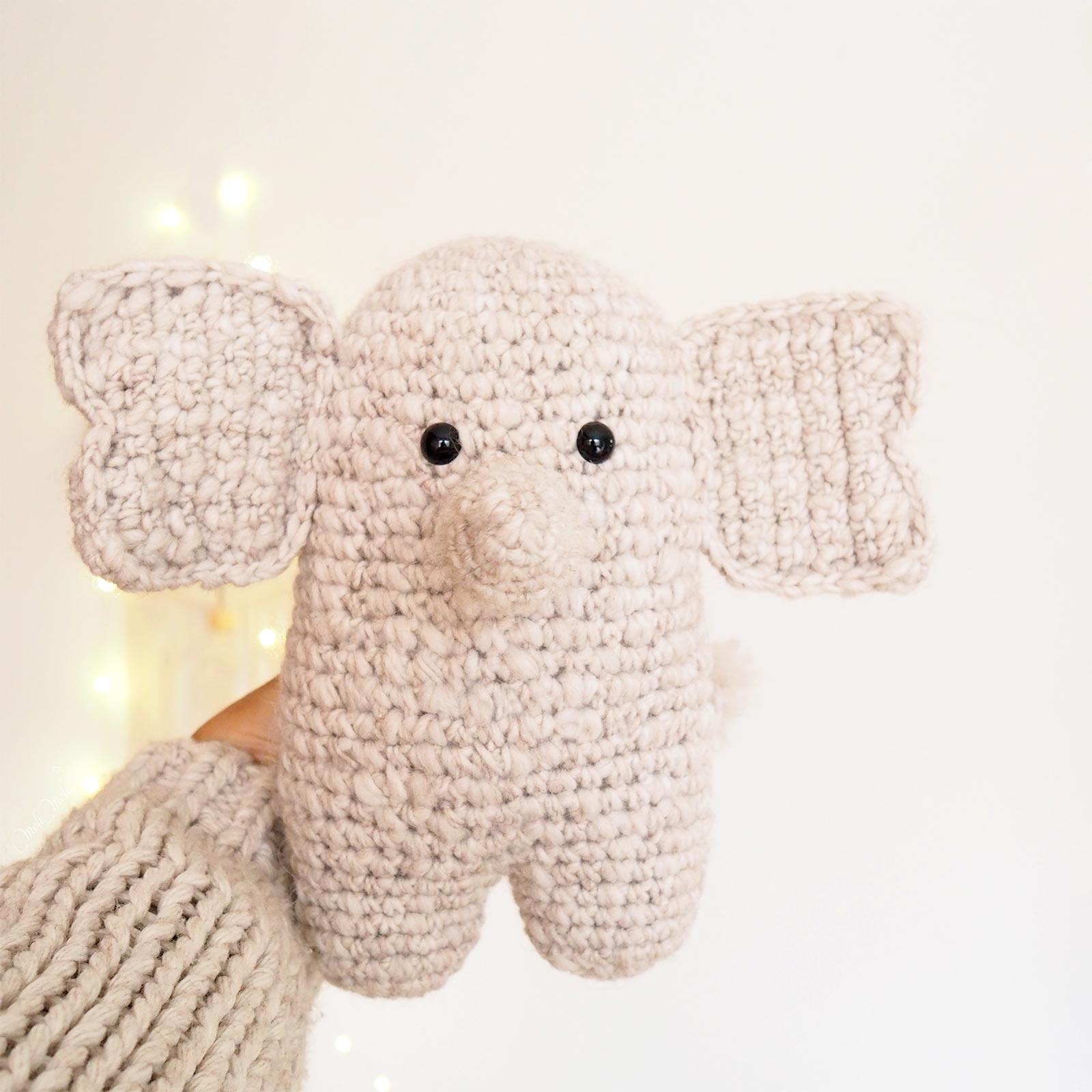 doudou edgar éléphant beige doux crochet idée cadeau mignonnerie laboutiquedemelimelo