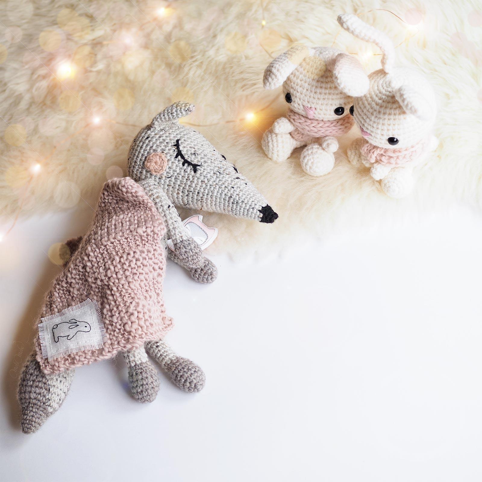 doudous luppi loup kezafoflo lapin crochet allaboutami plaid tricot kawai laboutiquedemelimelo
