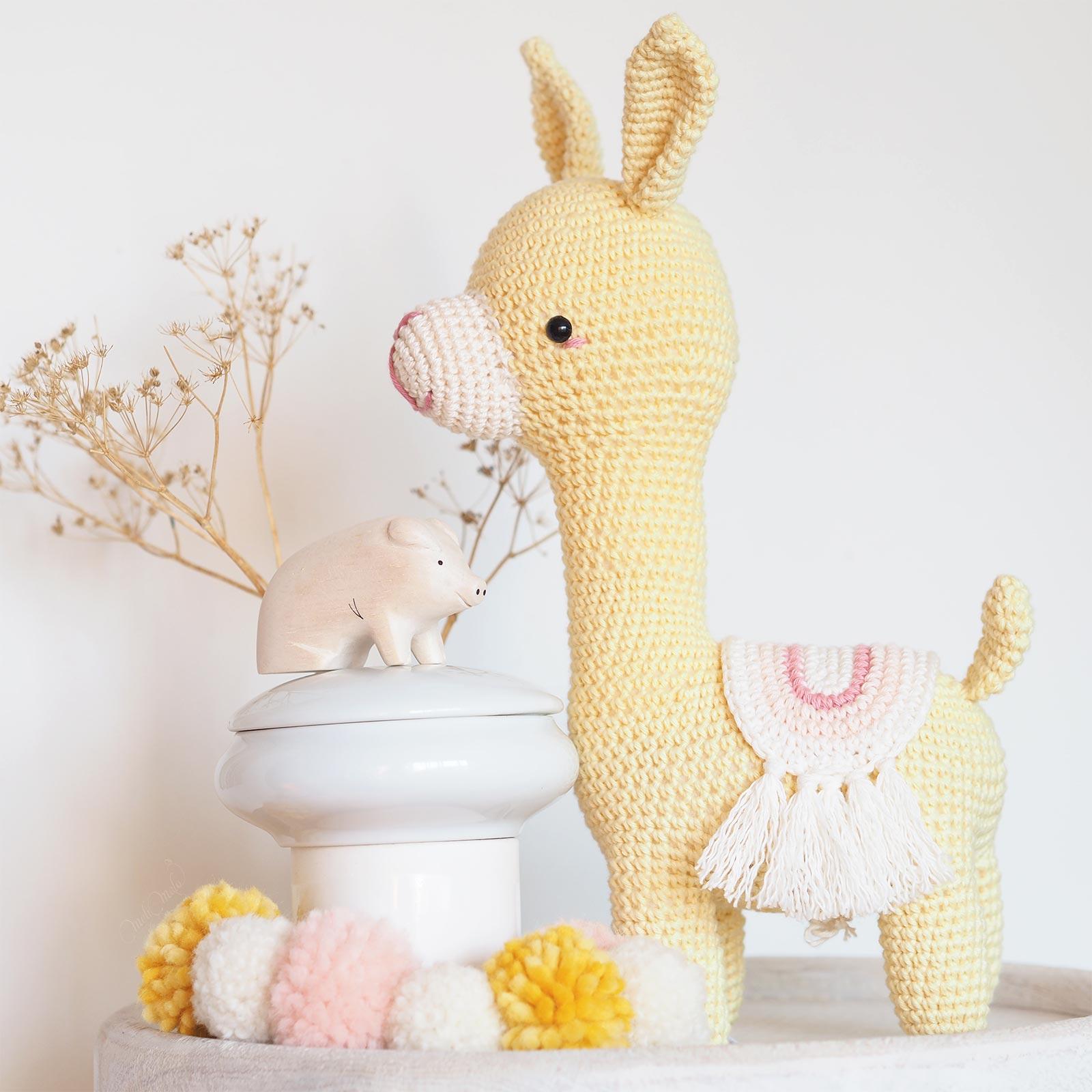 doudou Marcia alpaca amigurumi picapau crochet lama alpaga cochon tlabjapan laboutiquedemelimelo