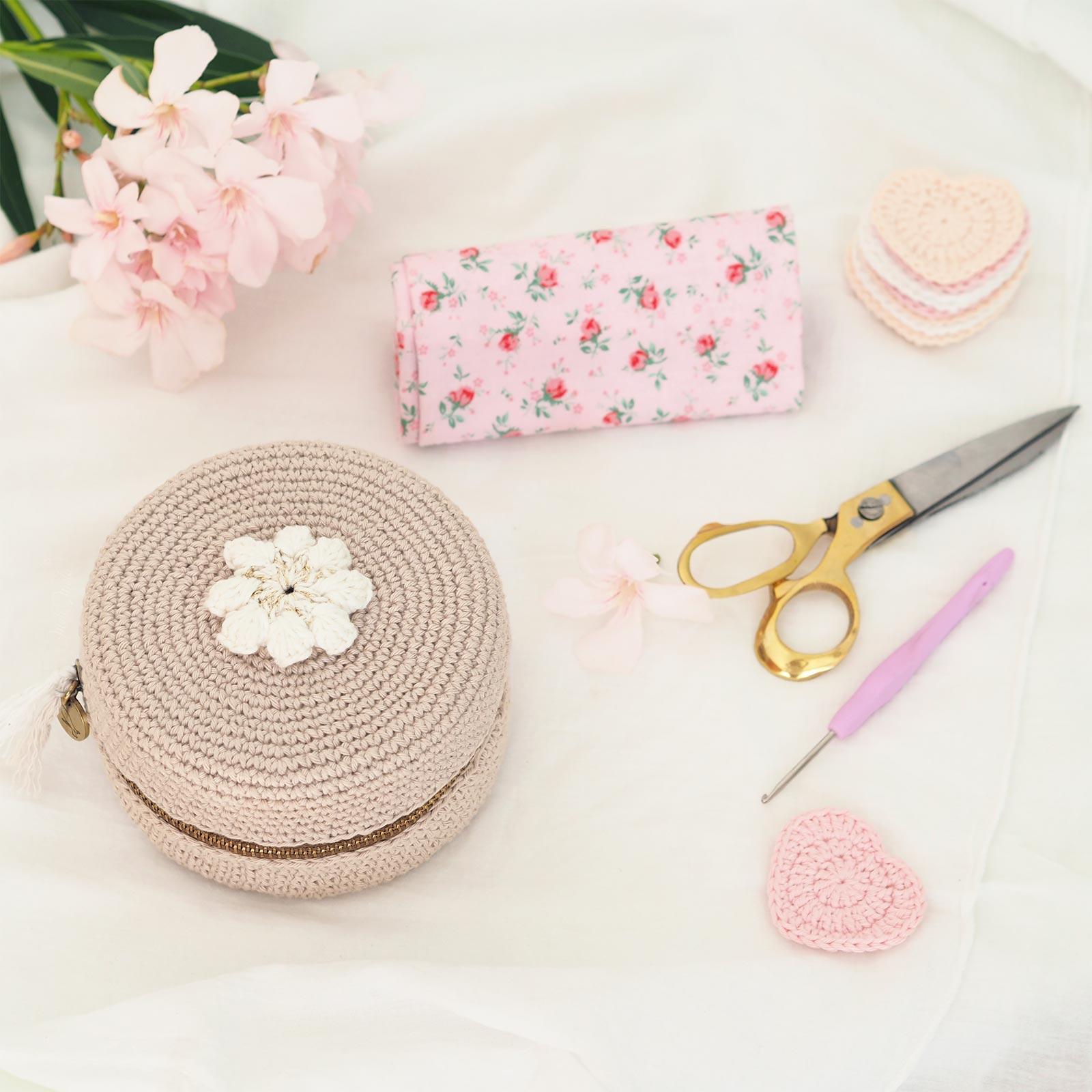 écrin macaron xl tuto crochet chouettekit coton Ricorumi laboutiquedemelimelo