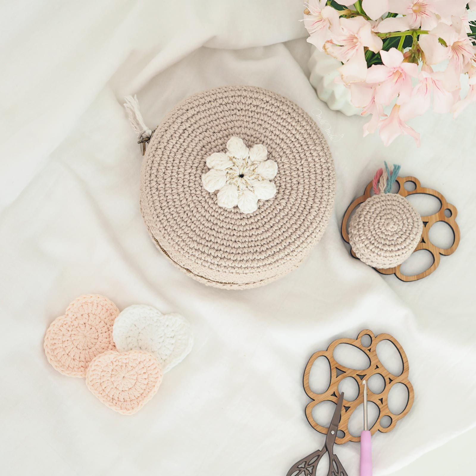 écrins macaron upcycling crochet   ricorumi tuto chouettekit laboutiquedemelimelo