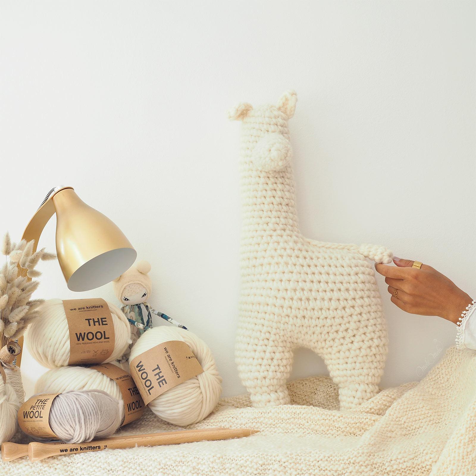 alpacawak alpaca crochet doudou alpaga XL the wool weareknitters amigurumi laboutiquedemelimelo