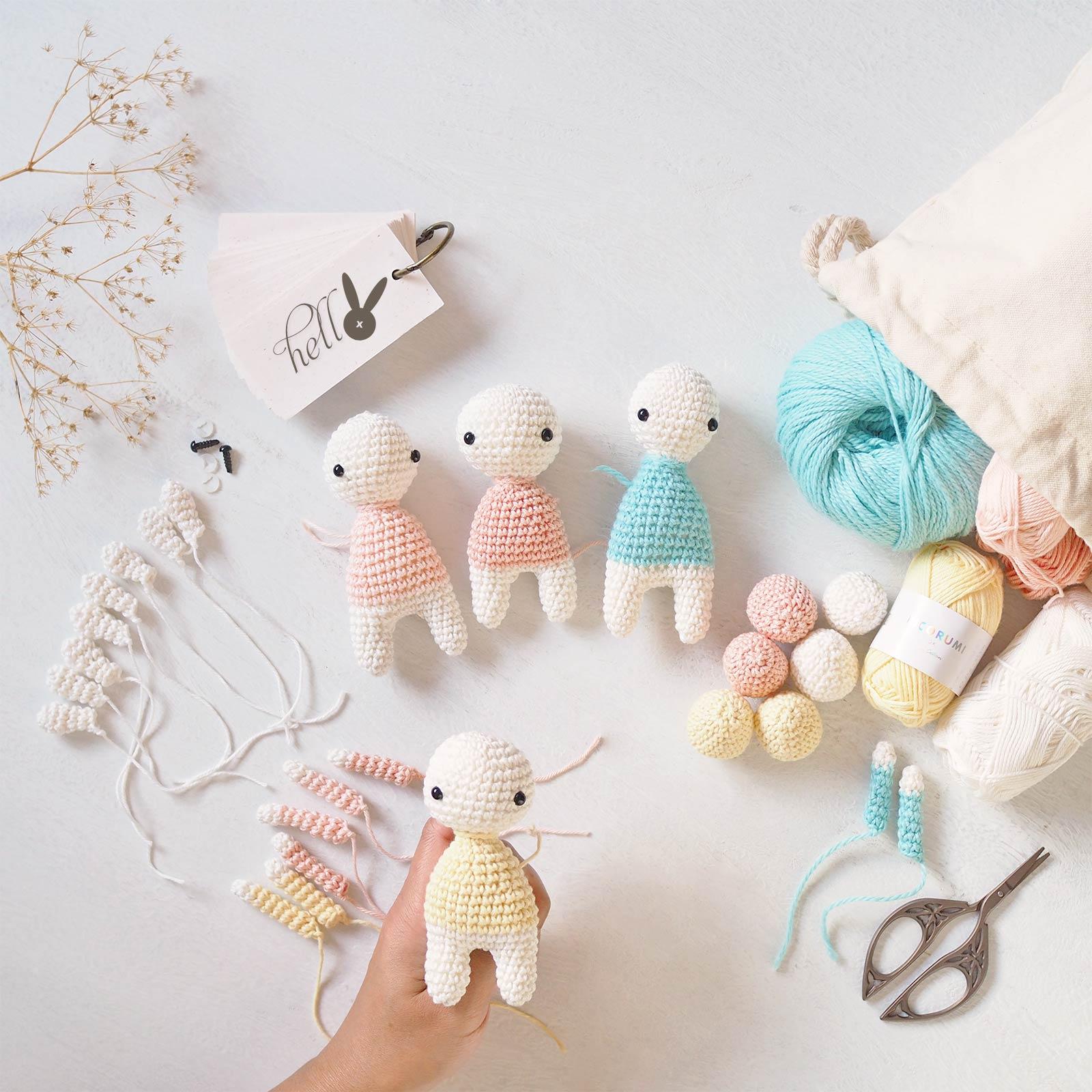 encours mini lapins oeufs crochet printemps Pâques laboutiquedemelimelo