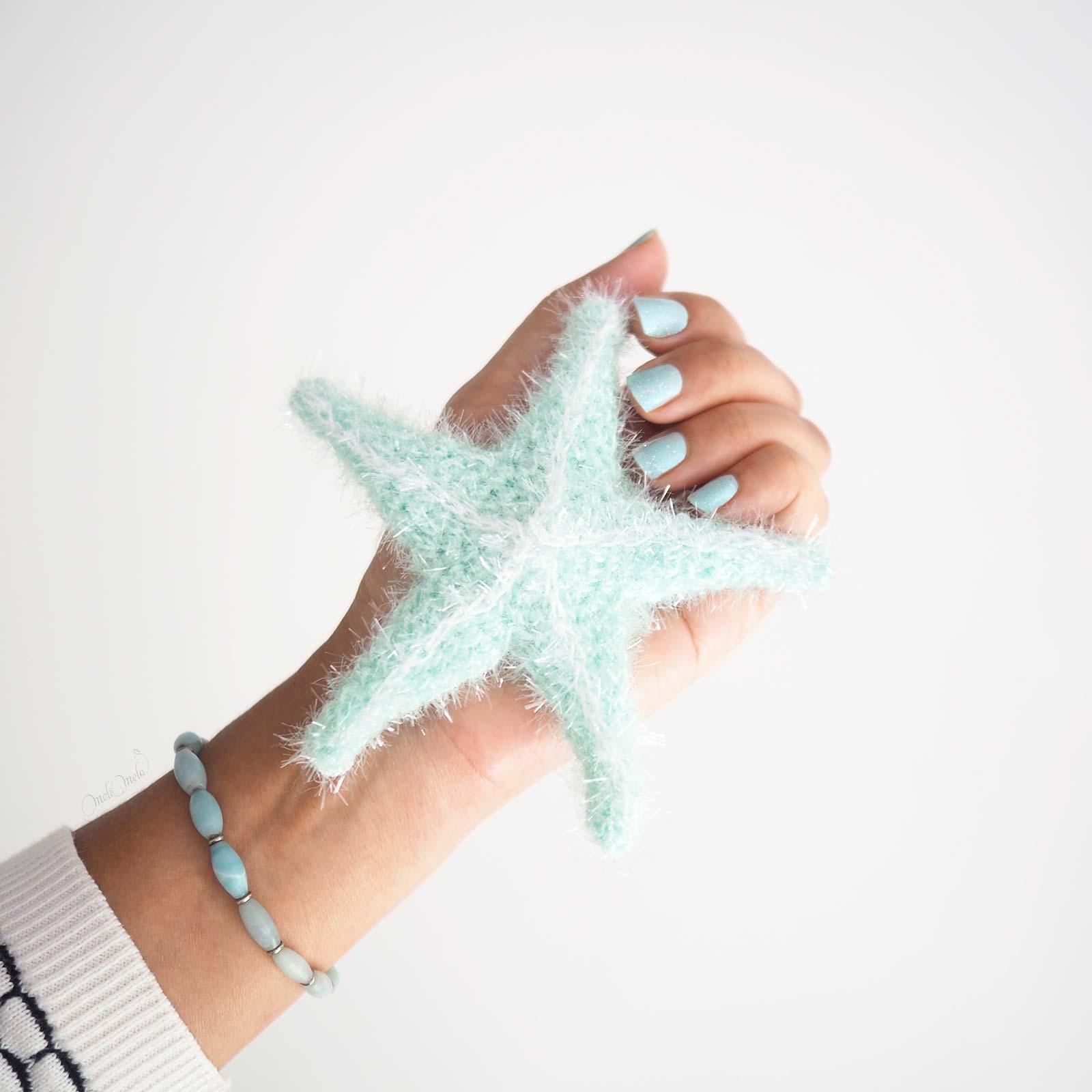 taille en main éponge tawashi exfoliante pour corps étoile de mer mint starfish creative bubble Rico Design laboutiquedemelimelo