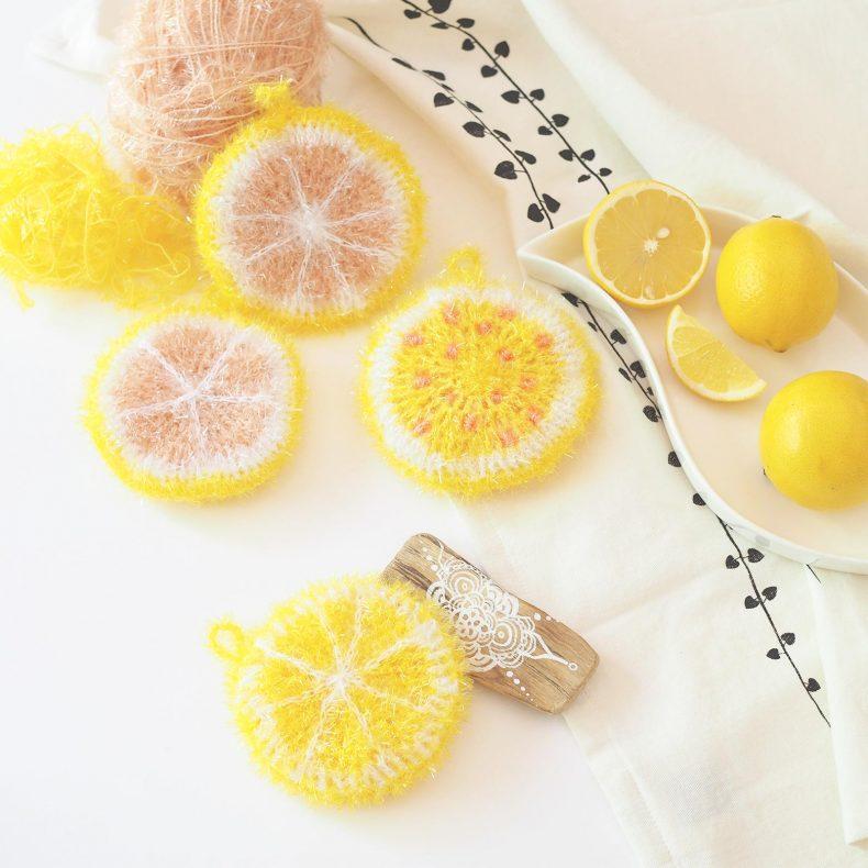 éponge tawashi agrumes citron pamplemousse Creative Bubble La Boutique de MeliMelo