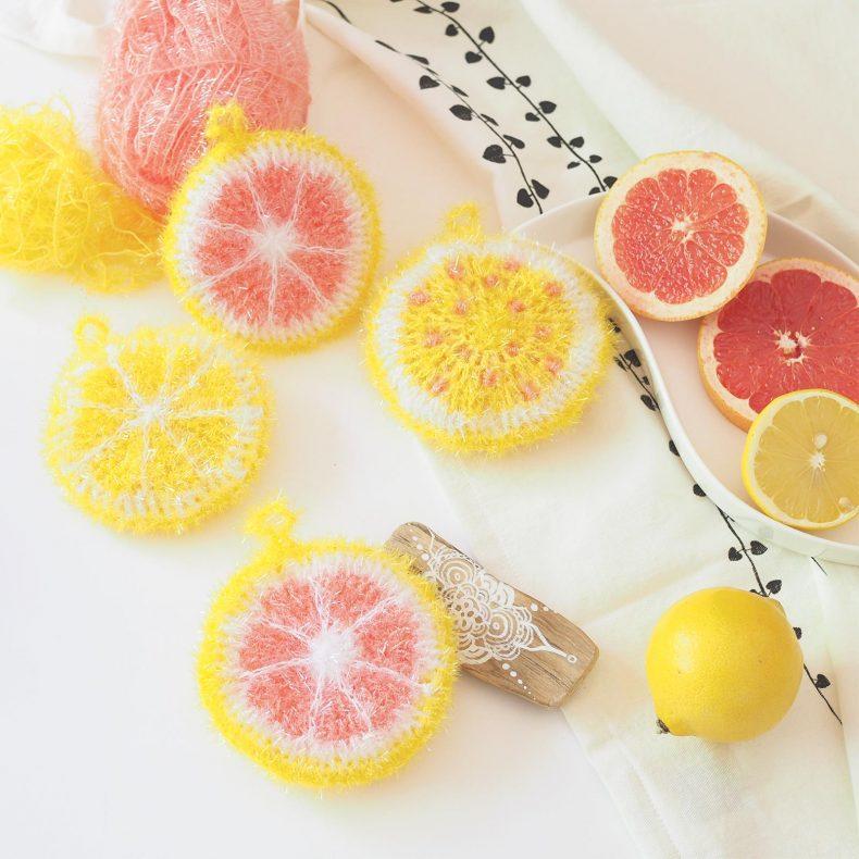 éponge tawashi Creative Bubble agrumes pamplemousse citron La Boutique de MeliMelo