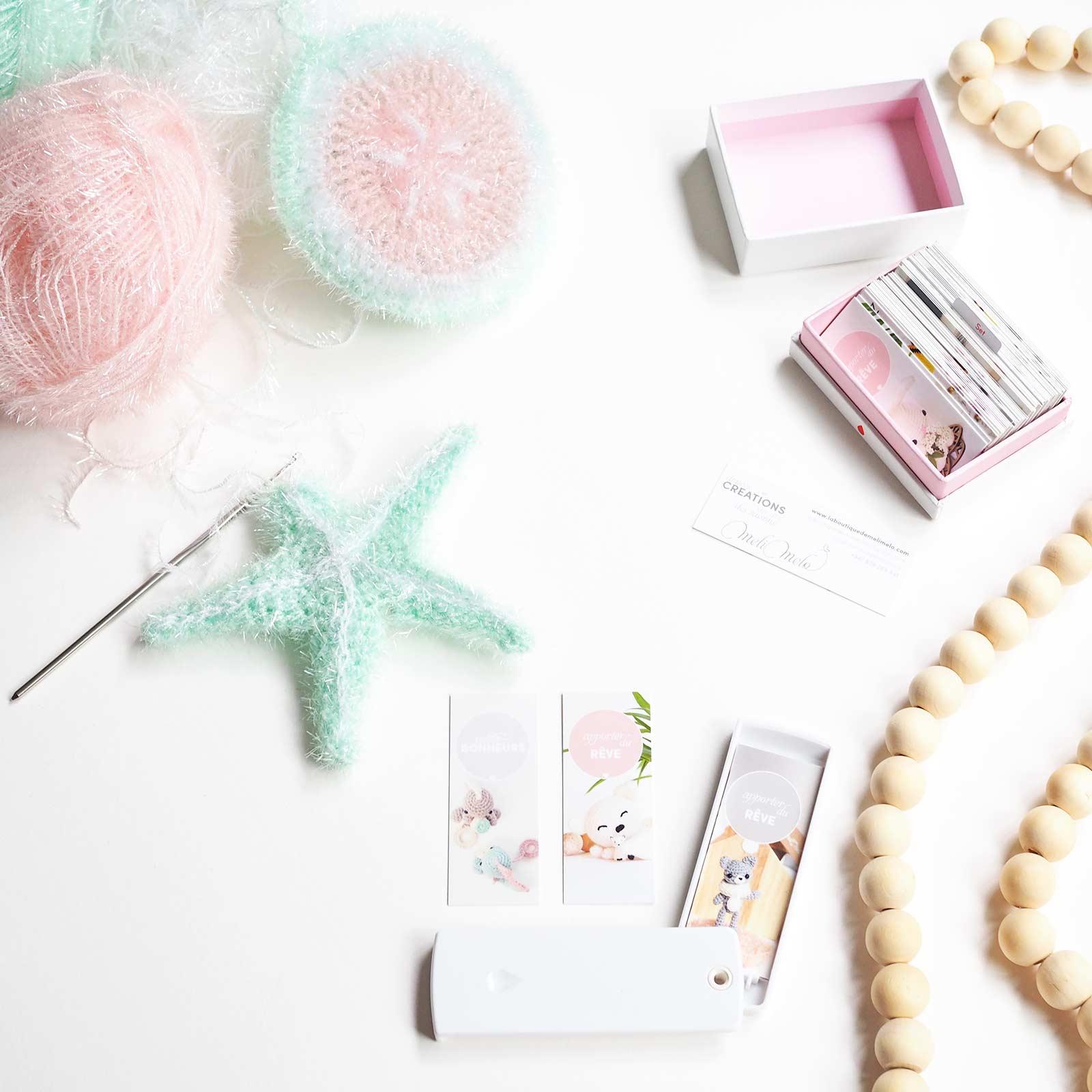 éponge tawashi pour corps étoile de mer mint encours starfish wip creative bubble Rico Design Moocards minicards laboutiquedemelimelo