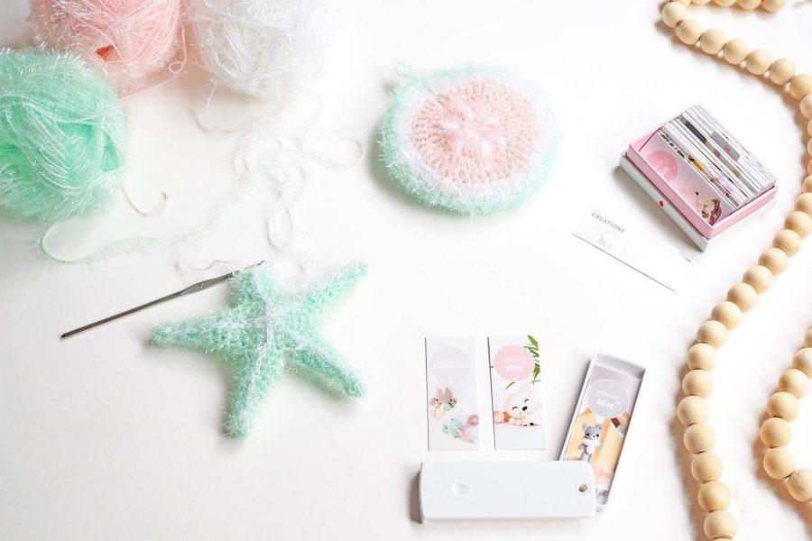 éponge tawashi exfoliante pour corps étoile de mer encours starfish mint Rico Design Moocards minicards laboutiquedemelimelo