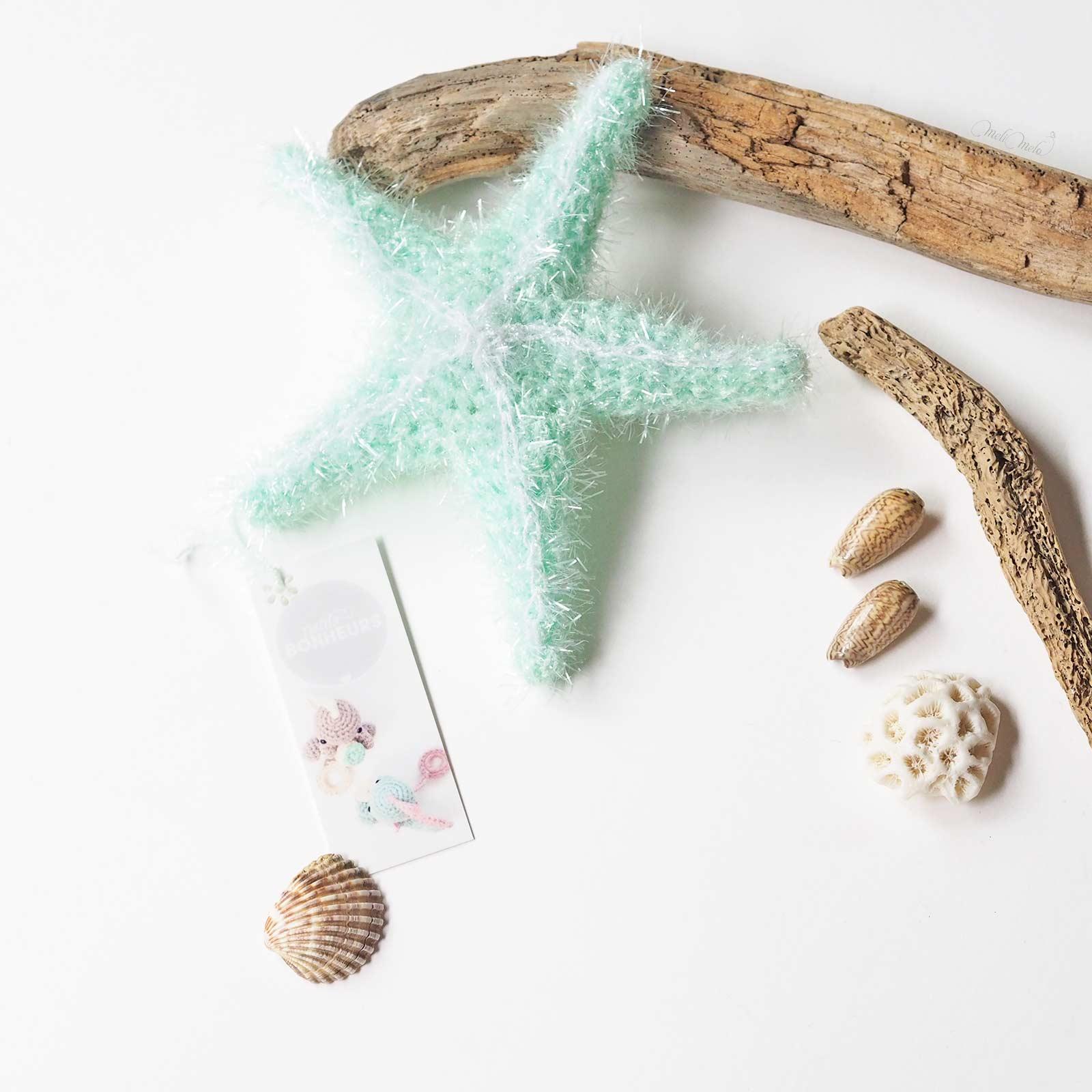 éponge tawashi exfoliante pour corps étoile de mer côté face starfish mint Creative bubble Rico Design Moocards minicards laboutiquedemelimelo
