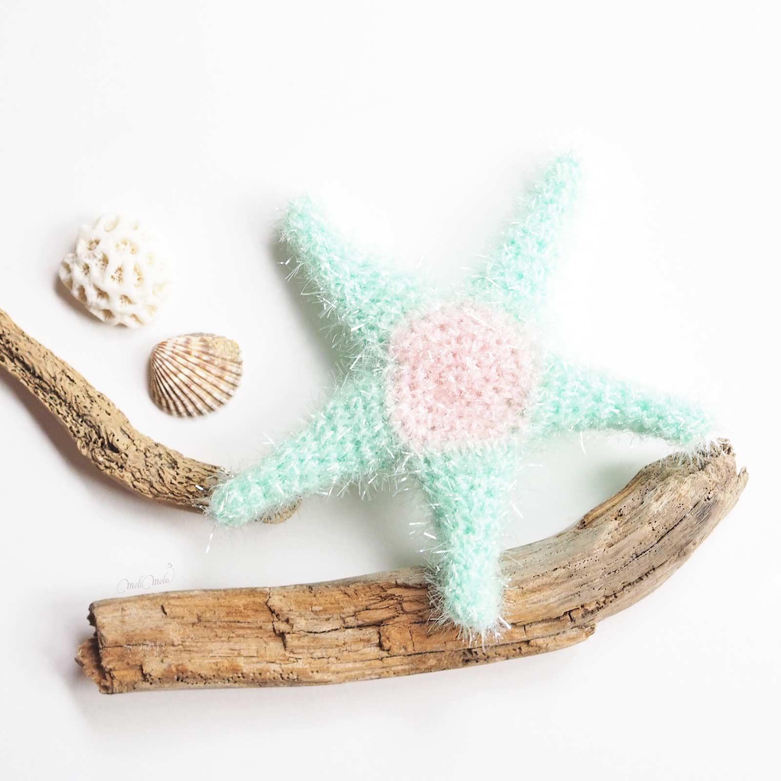 éponge tawashi exfoliante pour corps étoile de mer côté pile starfish laboutiquedemelimelo