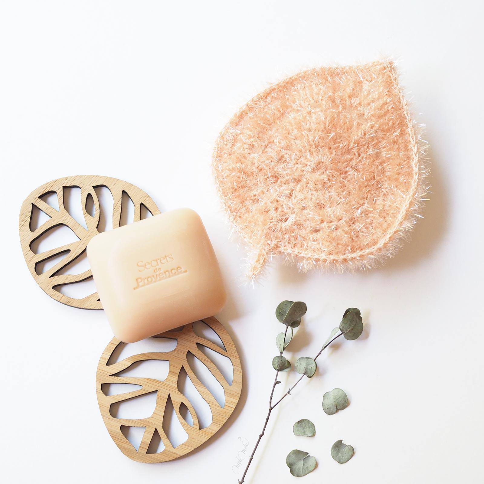 éponge Tawashi Feuille Leaf face poudre vaisselle corps Creative Bubble laboutiquedemelimelo