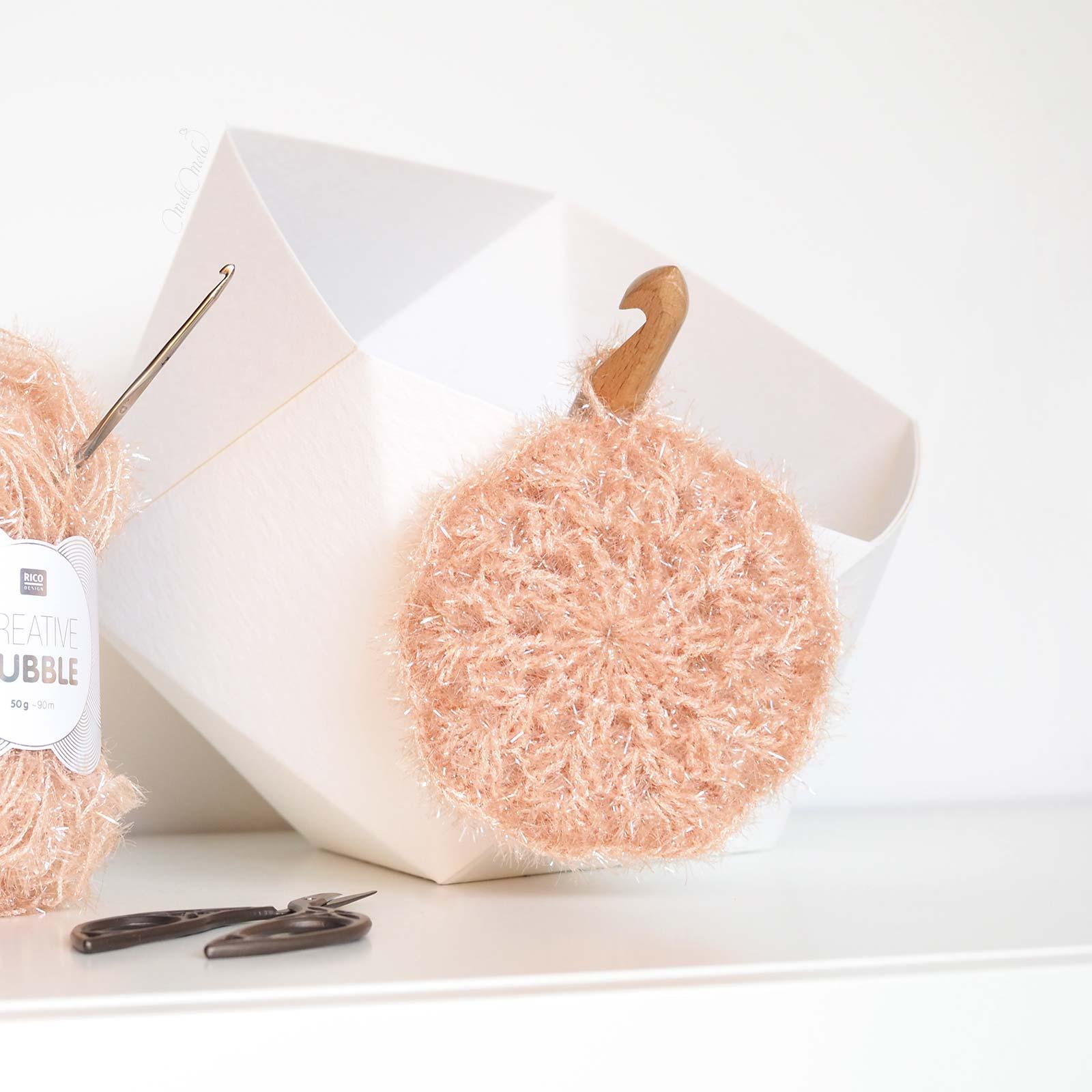 éponge tawashi fleur crochet creative bubble ricodesign laboutiquedemelimelo