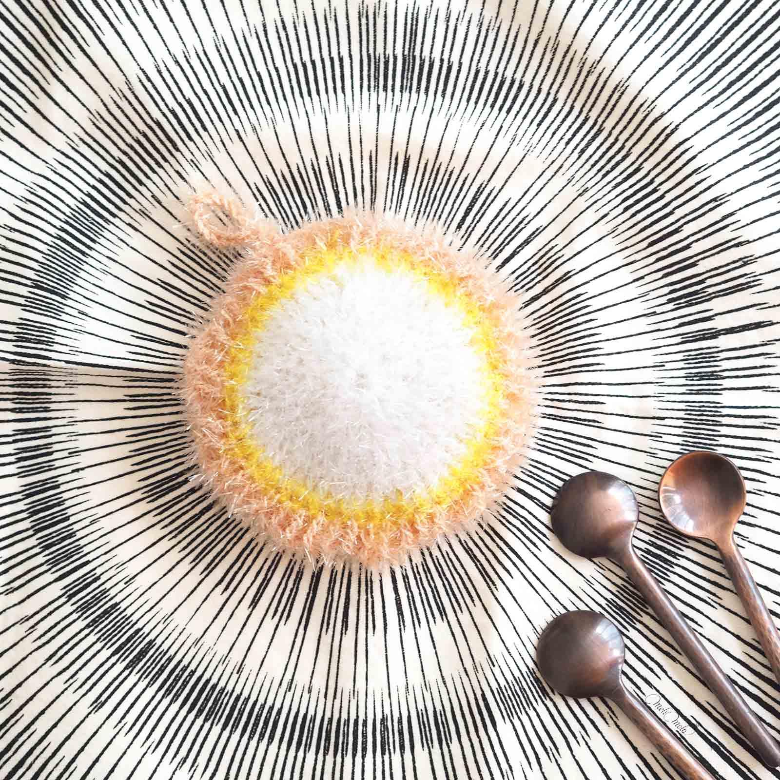 Côté pile Éponge Tawashi pâquerettes taille Creative Bubble Rico Design homeware Jurianne Matter laboutiquedemelimelo