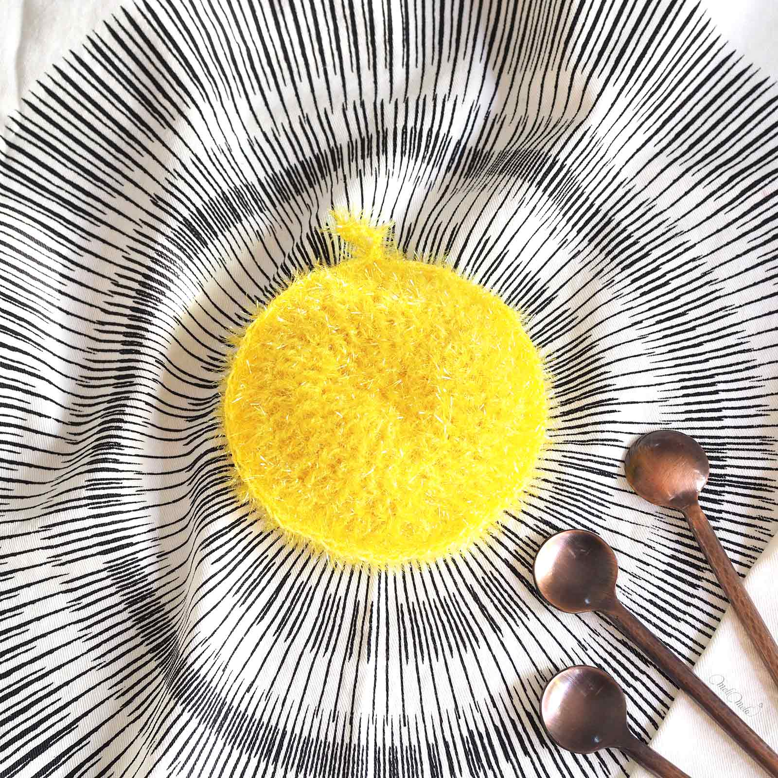 Éponge Tawashi pamplemousse pile creative bubble rico design laboutiquedemelimelo