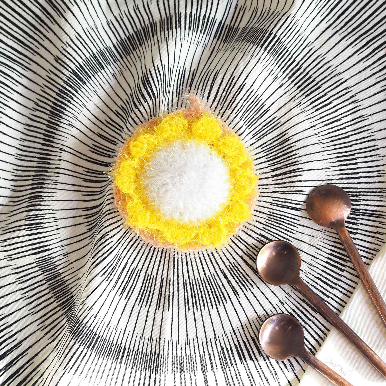 Éponge Tawashi pâquerette face creative bubble rico design laboutiquedemelimelo